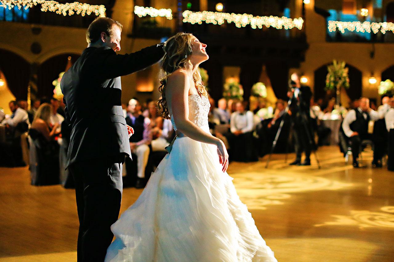 Moey Drew Indiana Roof Ballroom Wedding 218
