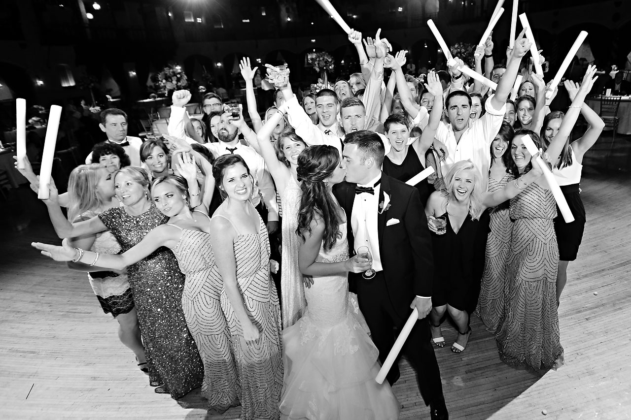 300 Vanessa Dustin Indiana Roof Ballroom Wedding