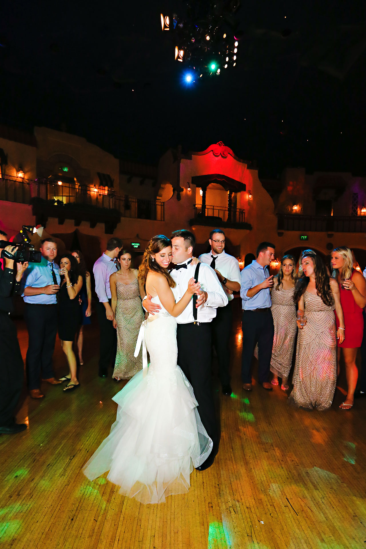 298 Vanessa Dustin Indiana Roof Ballroom Wedding