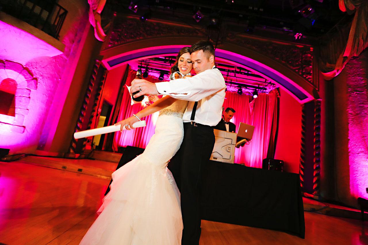 281 Vanessa Dustin Indiana Roof Ballroom Wedding