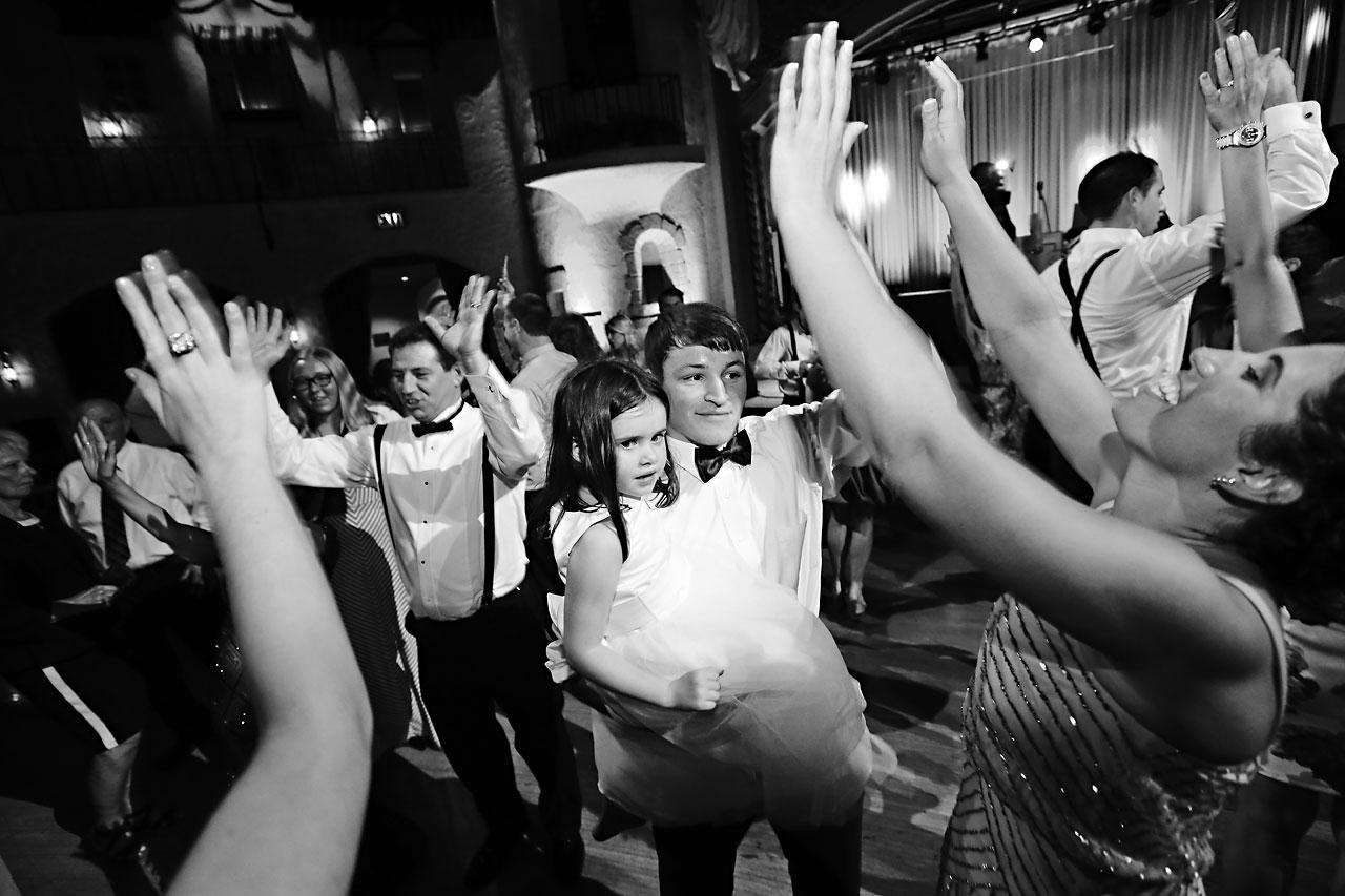 264 Vanessa Dustin Indiana Roof Ballroom Wedding