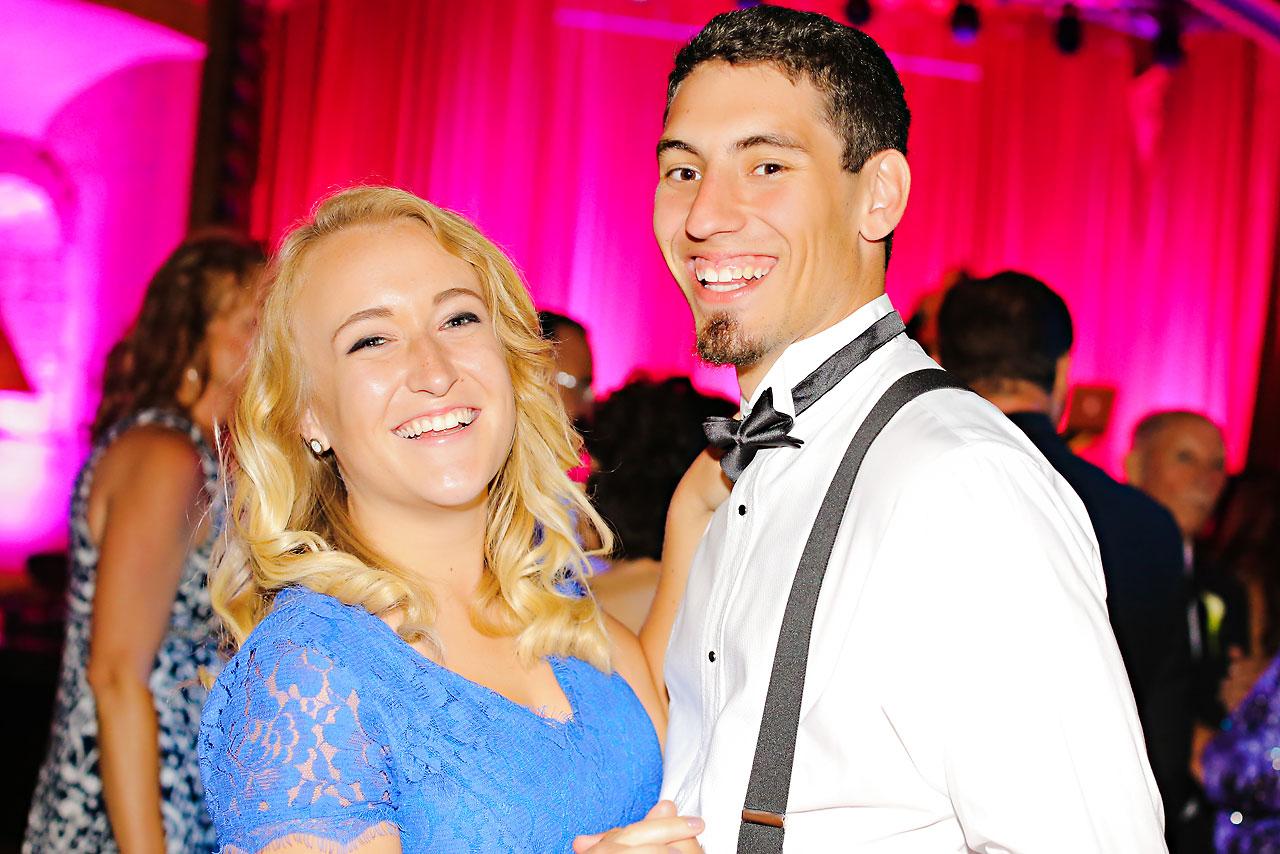 253 Vanessa Dustin Indiana Roof Ballroom Wedding