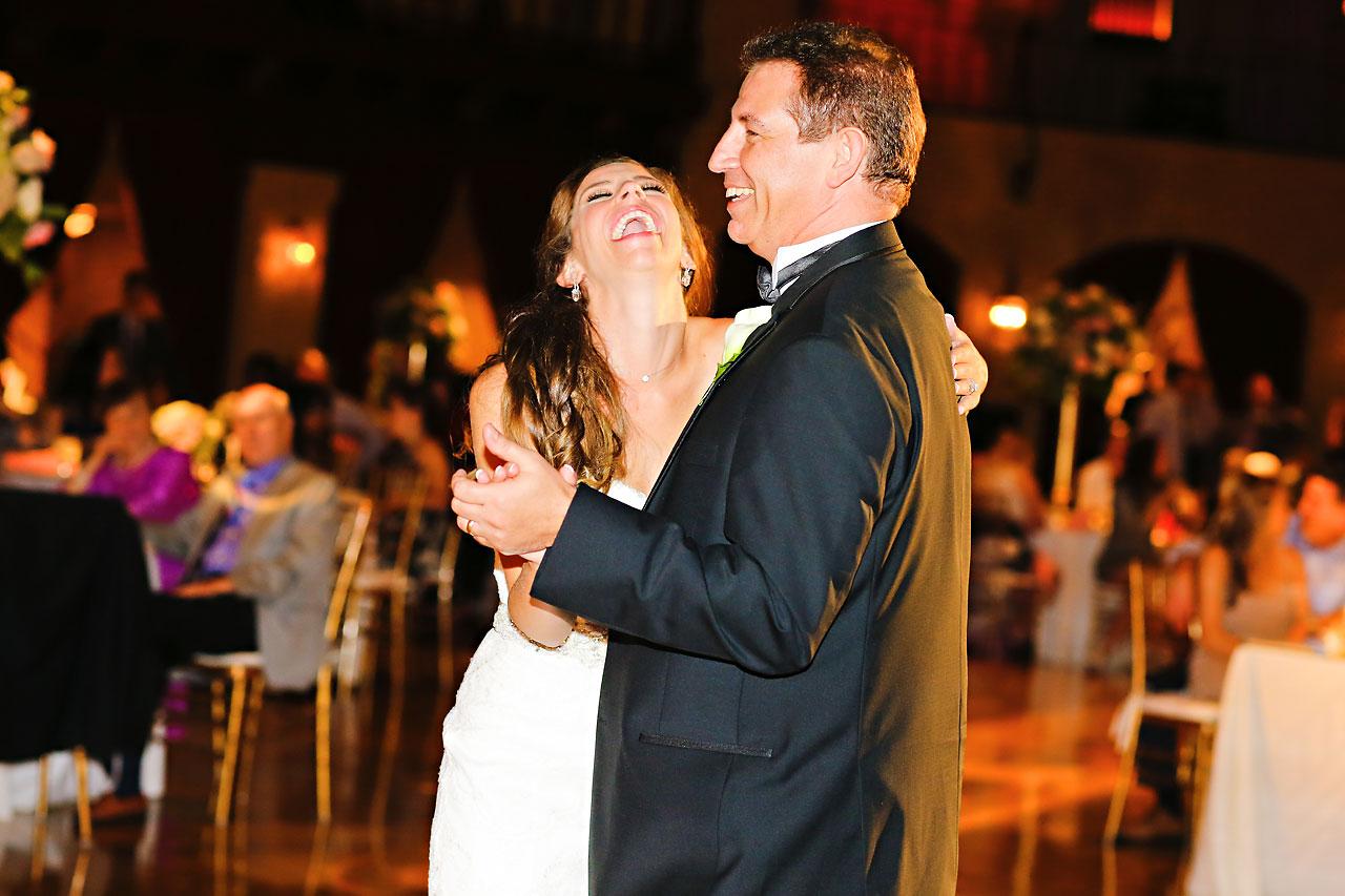 242 Vanessa Dustin Indiana Roof Ballroom Wedding