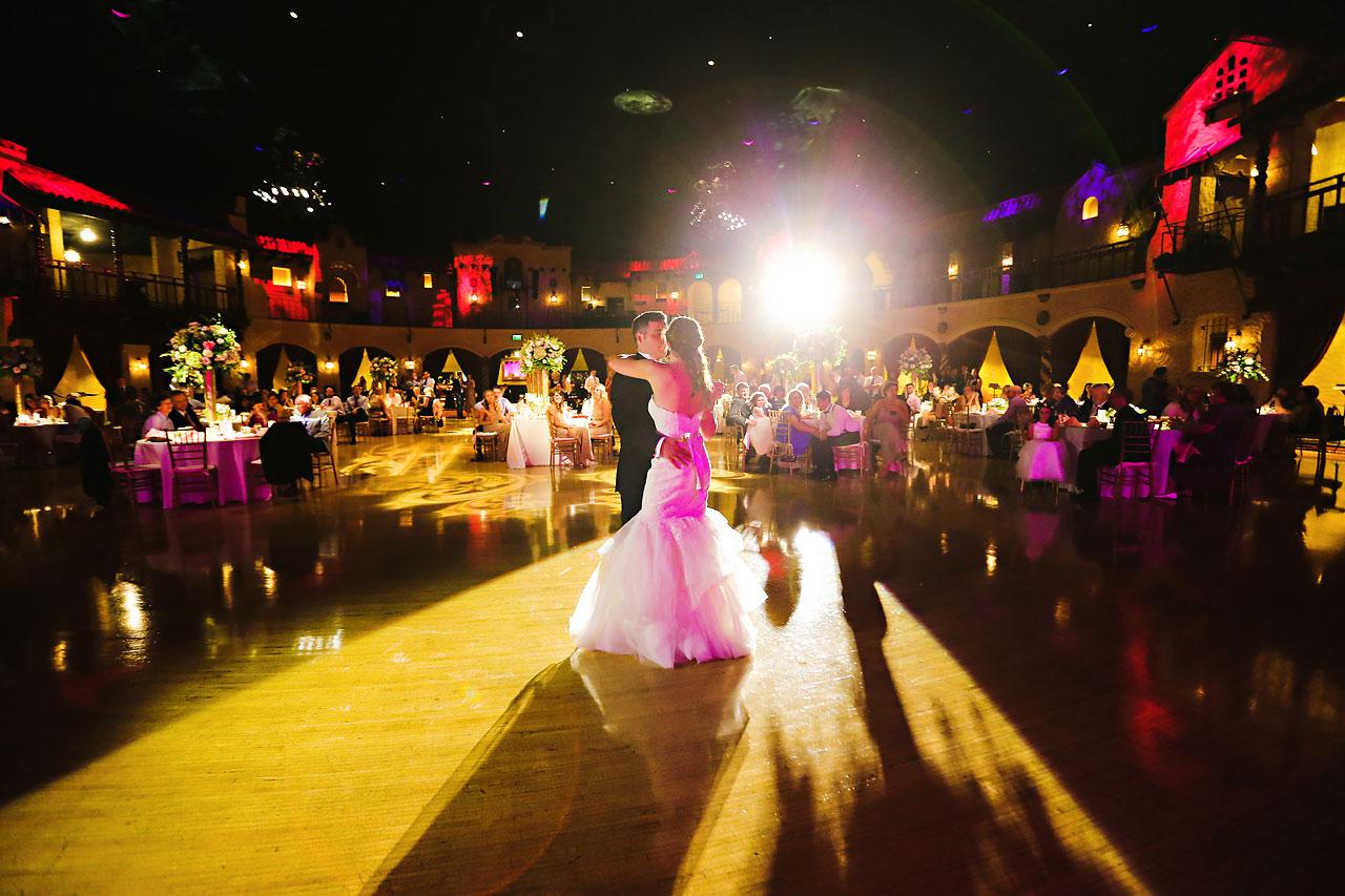 235 Vanessa Dustin Indiana Roof Ballroom Wedding