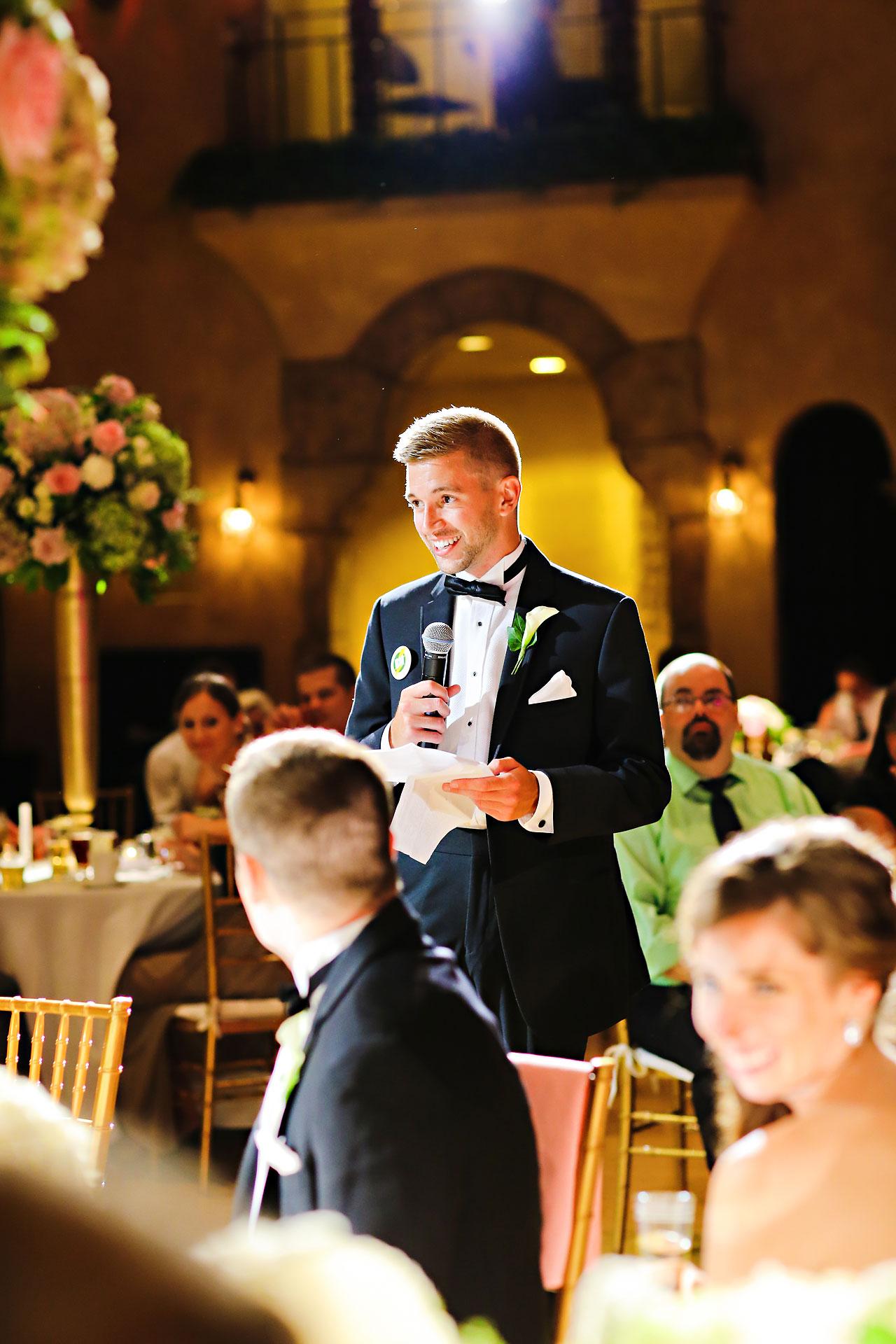 228 Vanessa Dustin Indiana Roof Ballroom Wedding