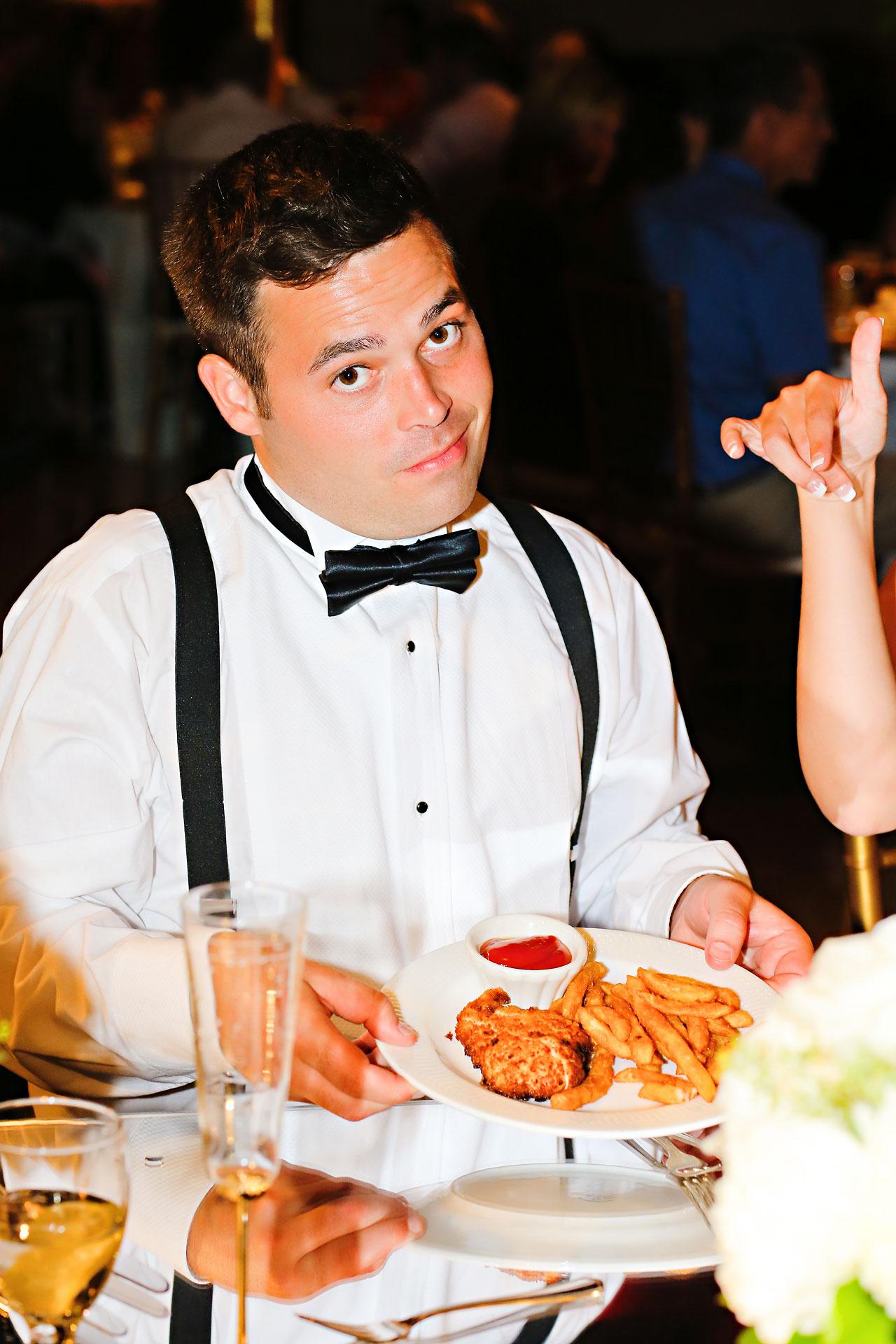 229 Vanessa Dustin Indiana Roof Ballroom Wedding