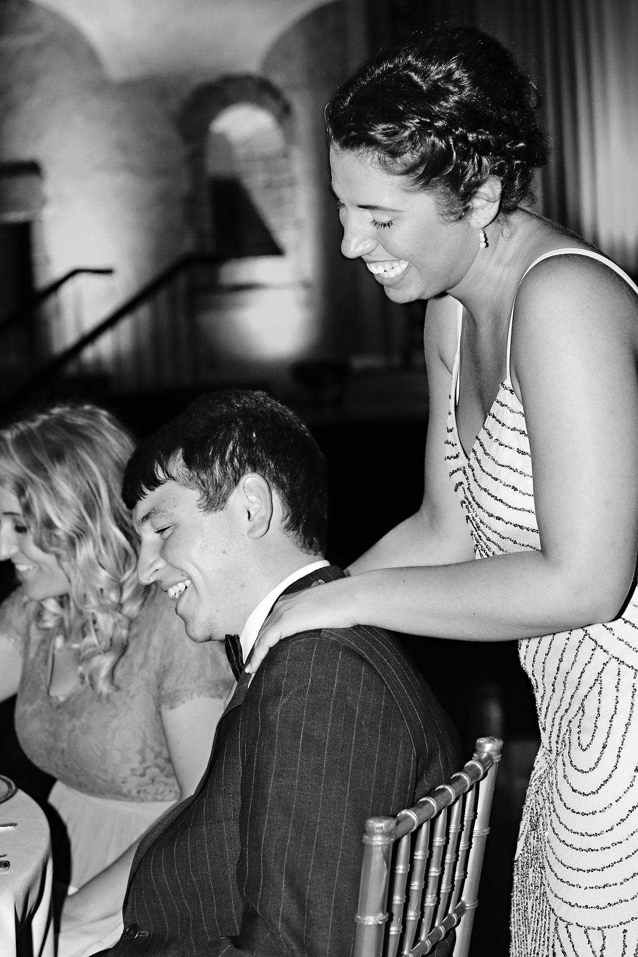 217 Vanessa Dustin Indiana Roof Ballroom Wedding