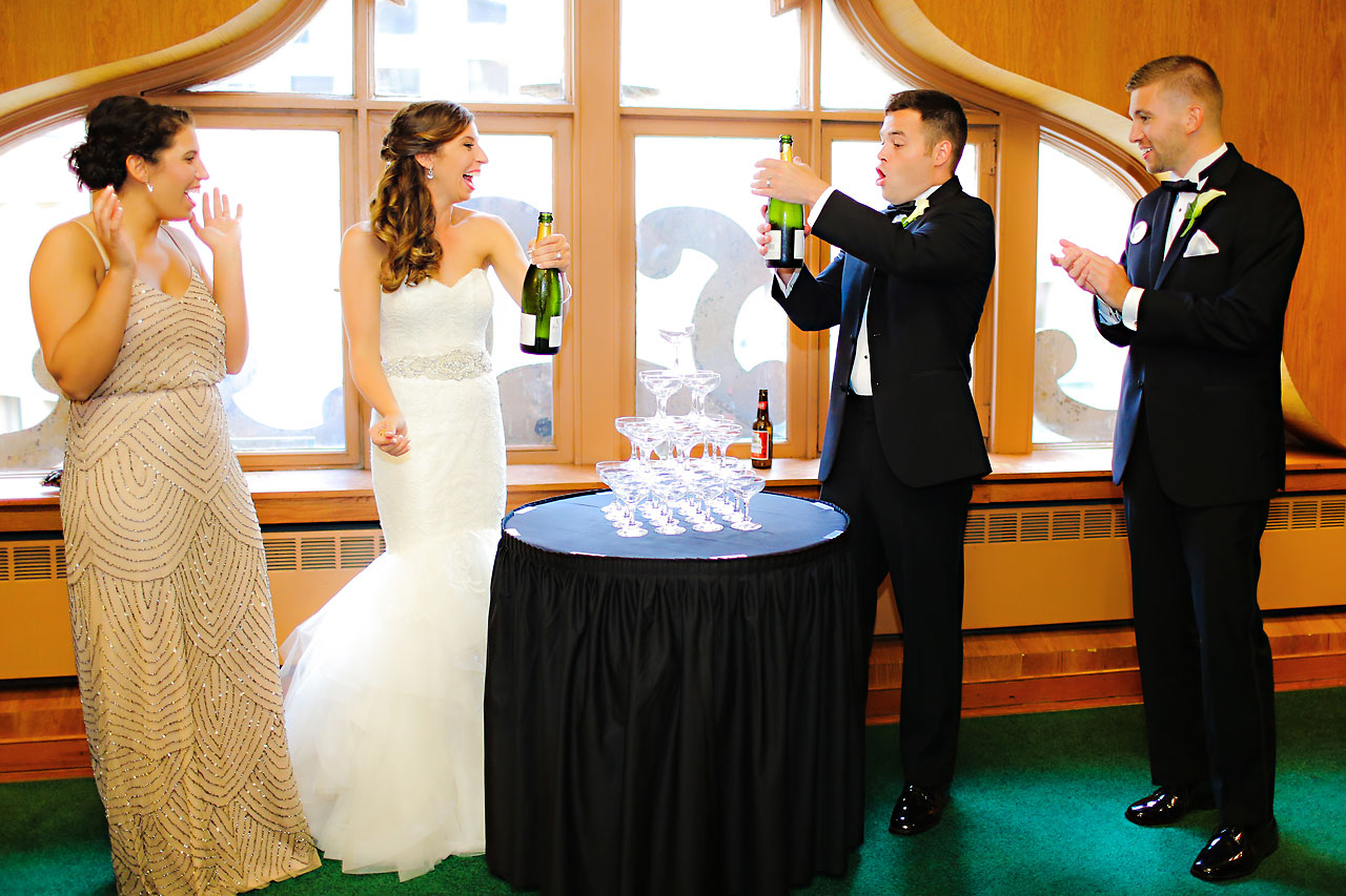 199 Vanessa Dustin Indiana Roof Ballroom Wedding