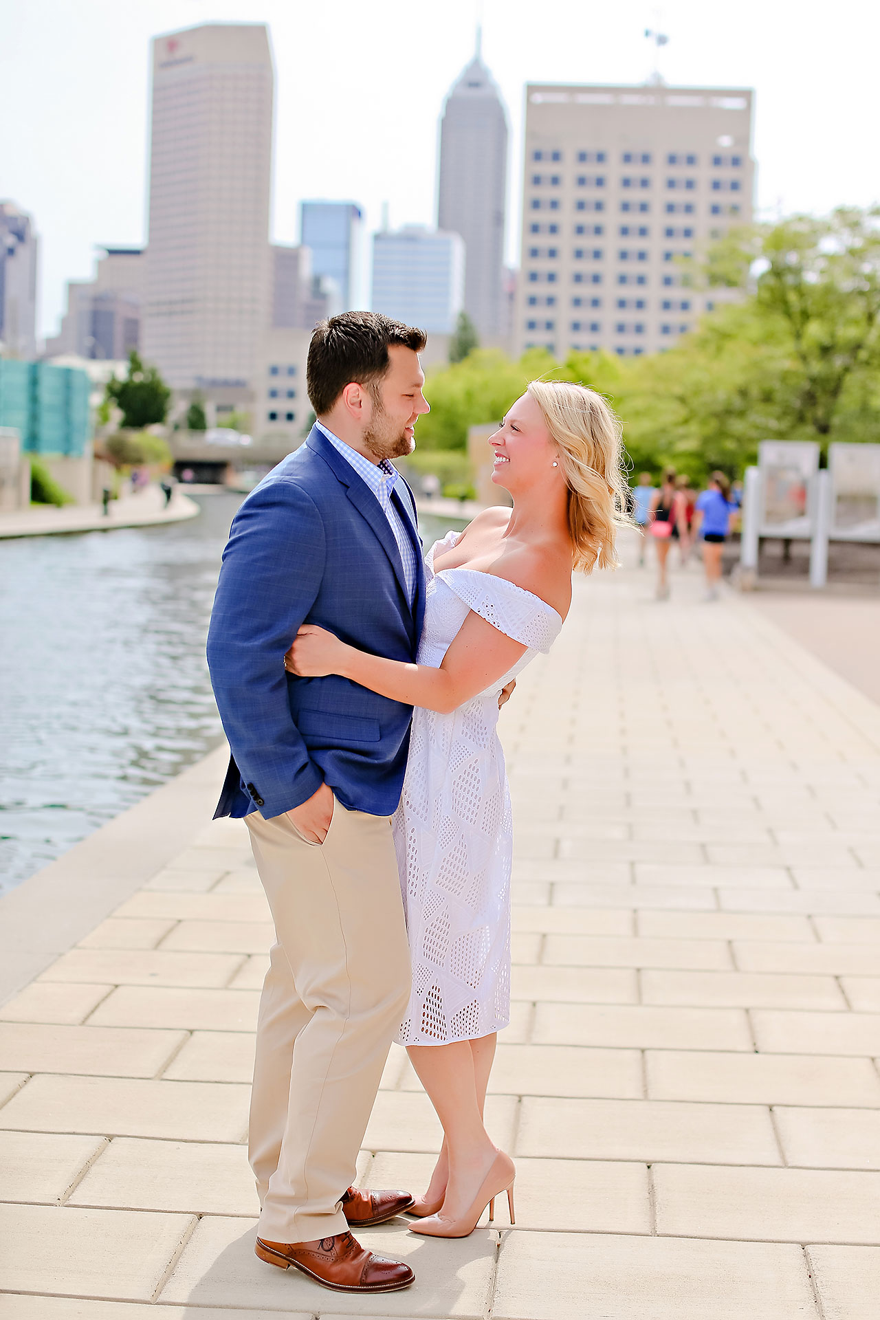 Chelsea Tom Downtown Indianapolis Engagement Session 123