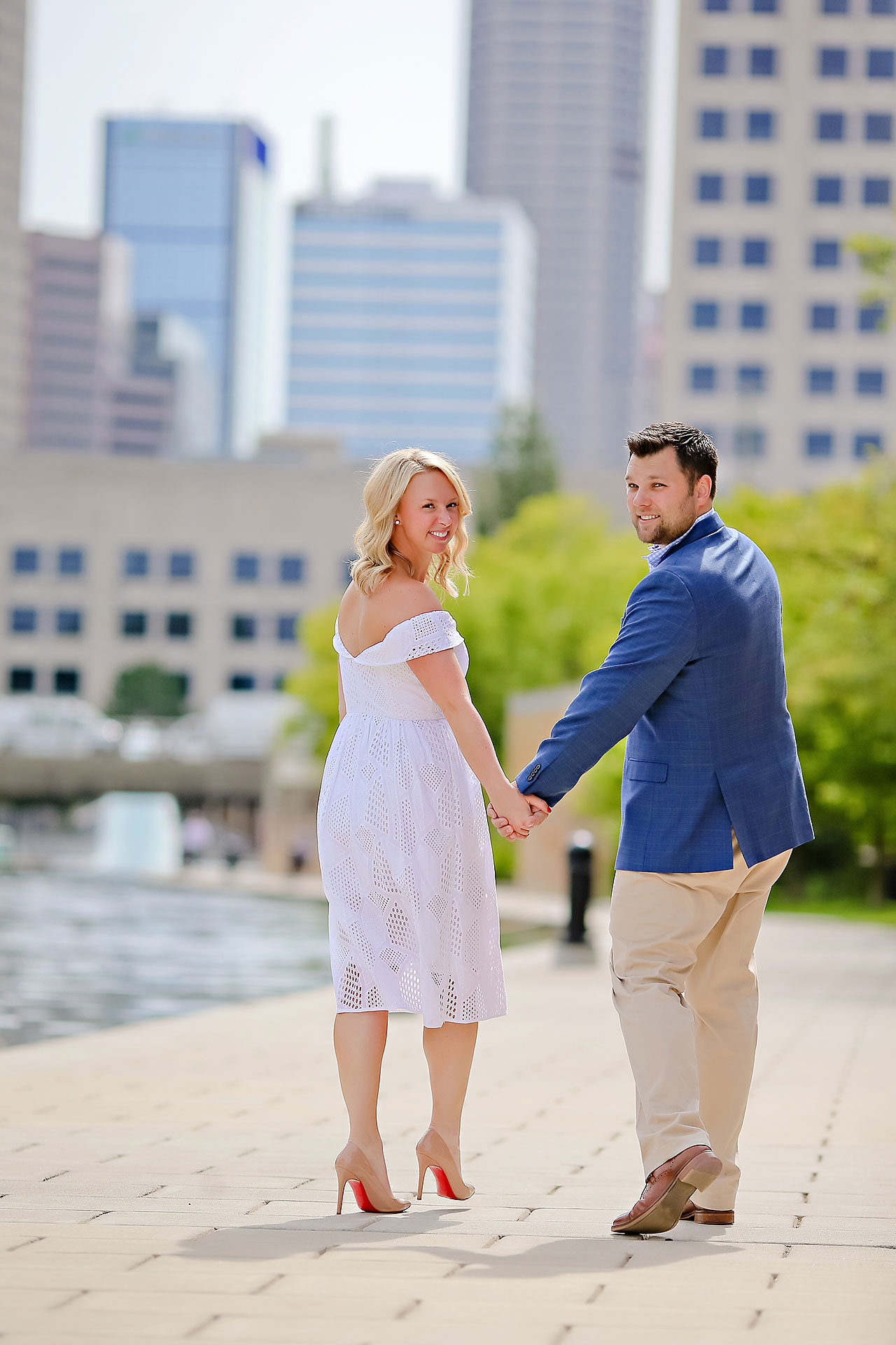 Chelsea Tom Downtown Indianapolis Engagement Session 110