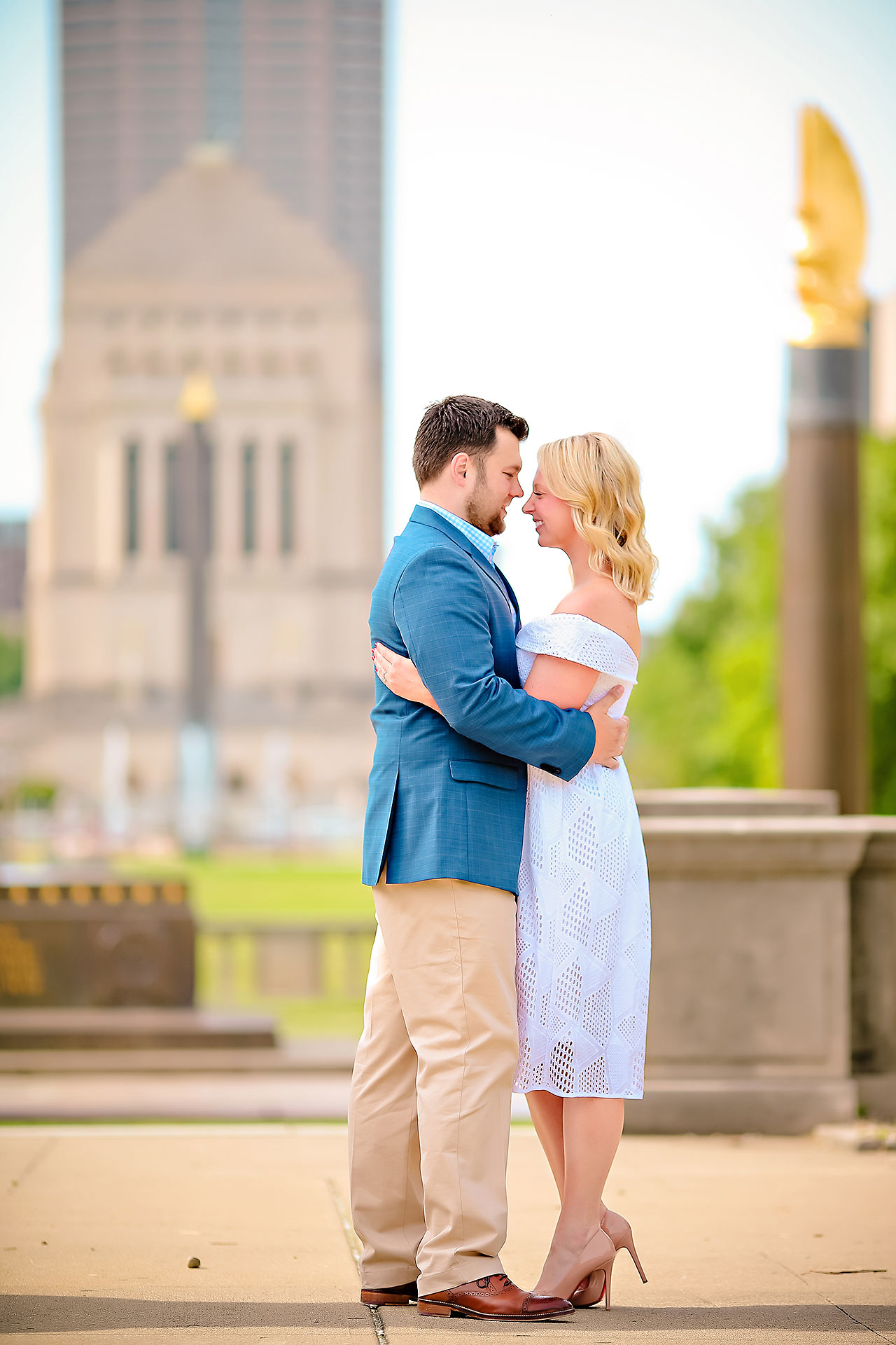 Chelsea Tom Downtown Indianapolis Engagement Session 107