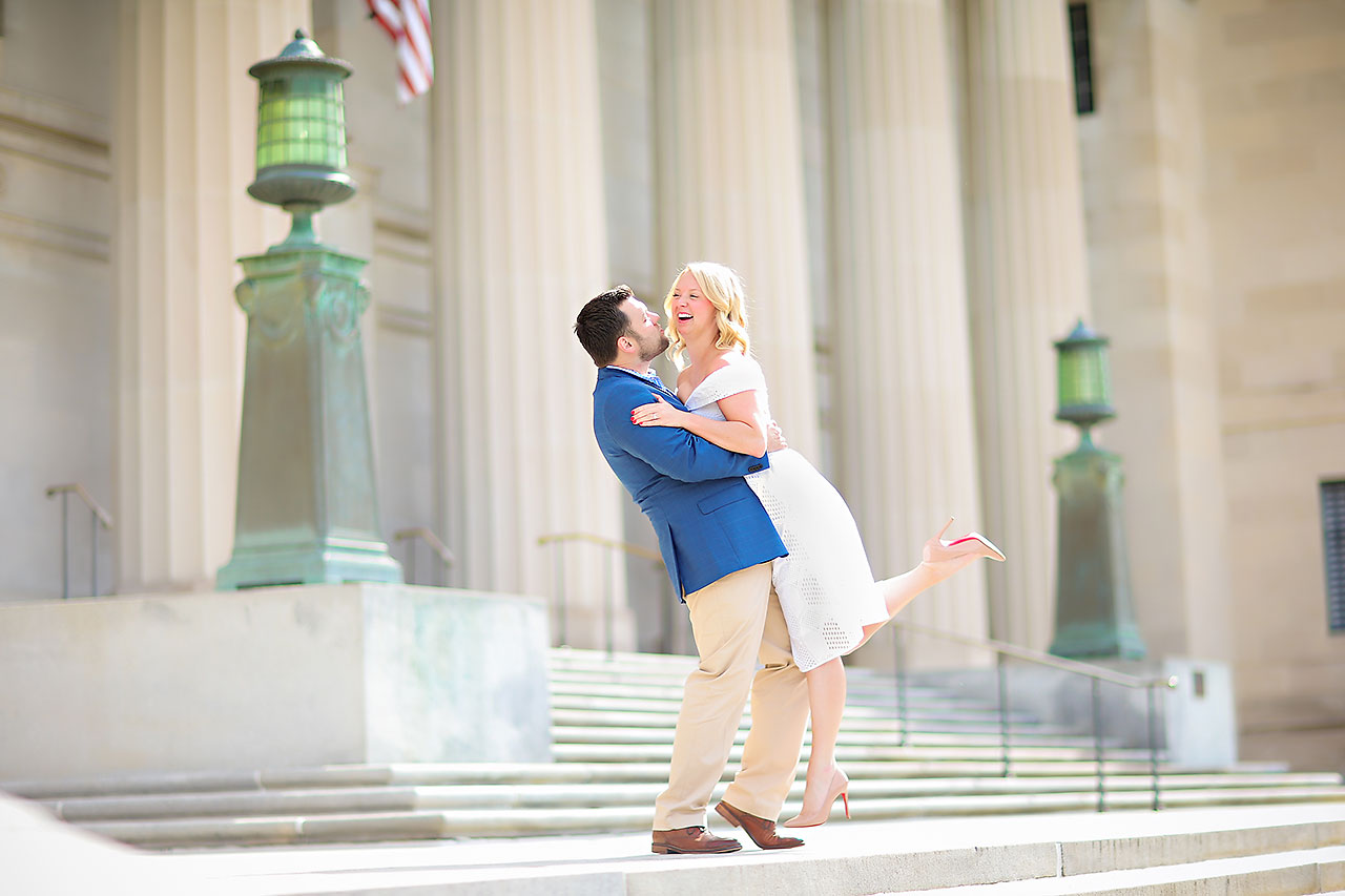 Chelsea Tom Downtown Indianapolis Engagement Session 099