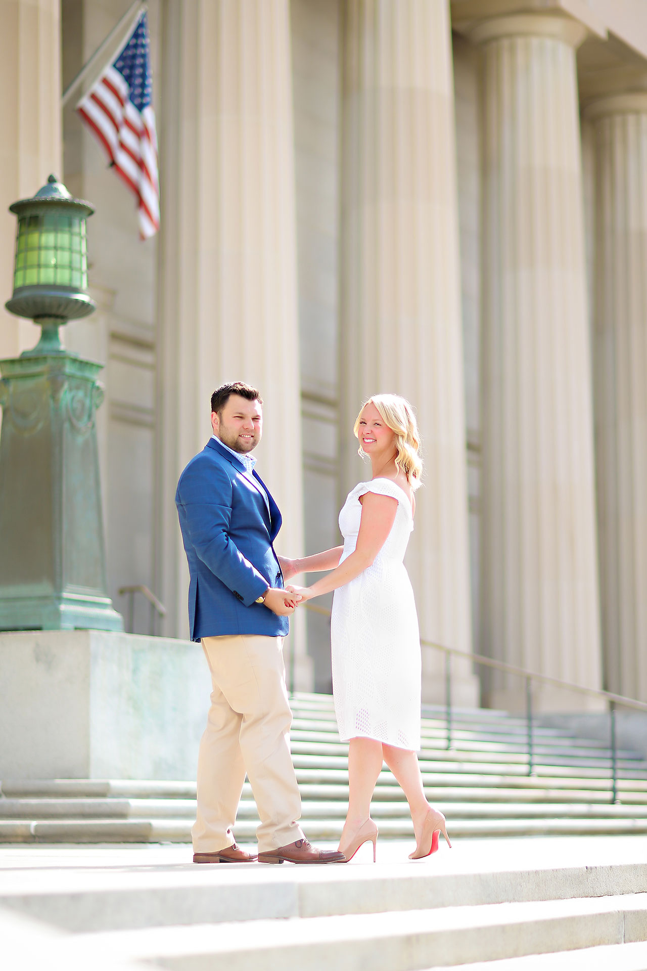 Chelsea Tom Downtown Indianapolis Engagement Session 093