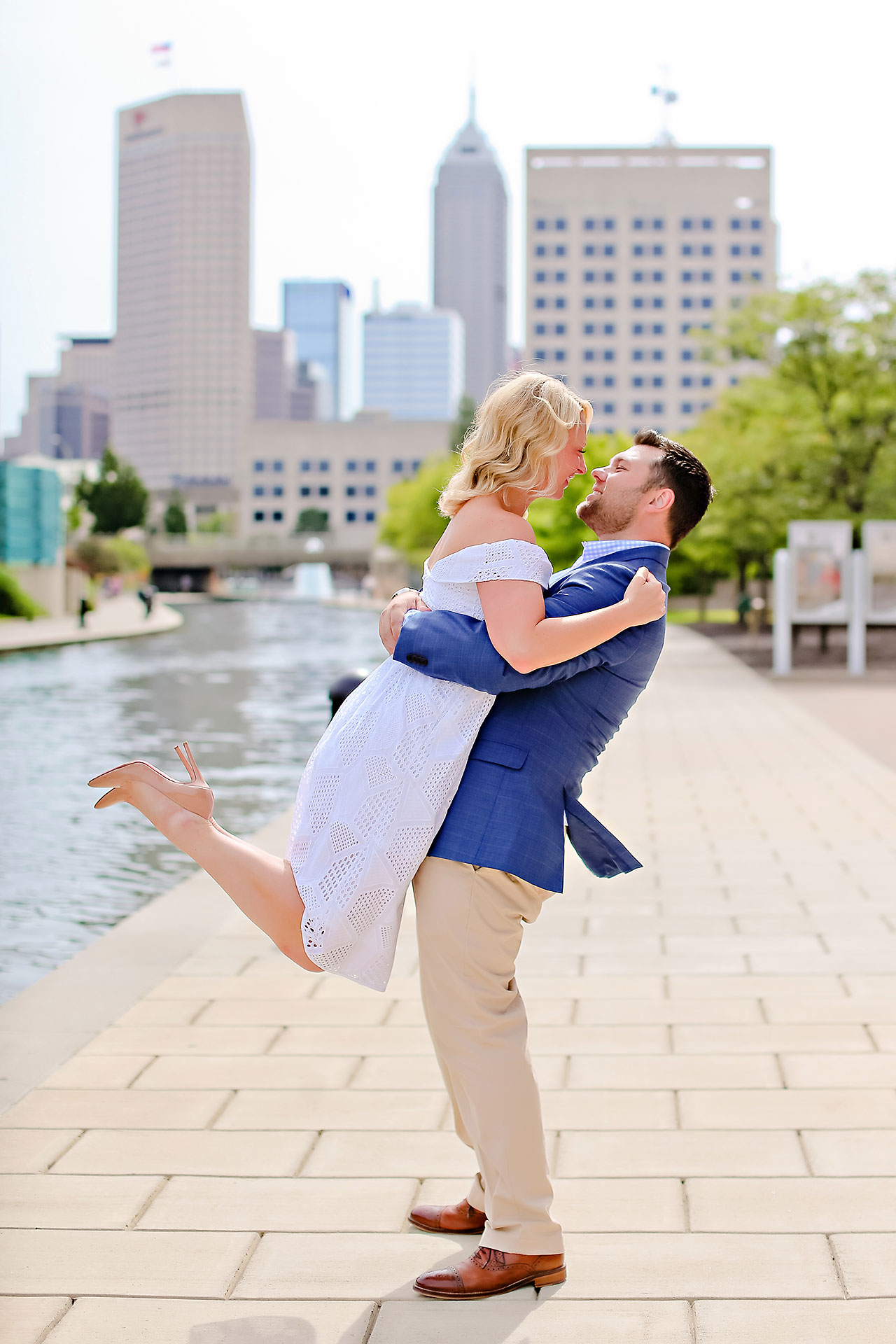 Chelsea Tom Downtown Indianapolis Engagement Session 091
