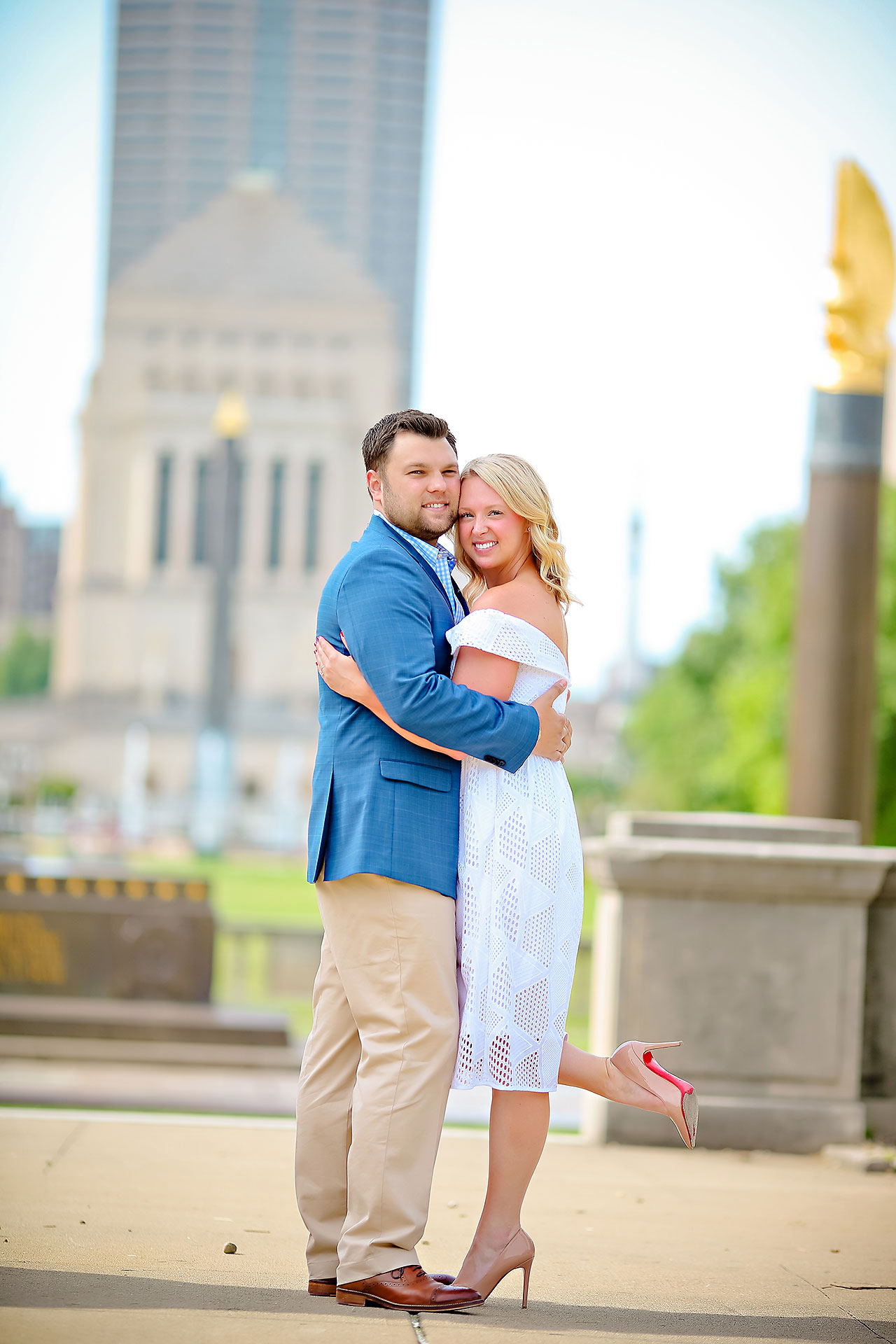 Chelsea Tom Downtown Indianapolis Engagement Session 088
