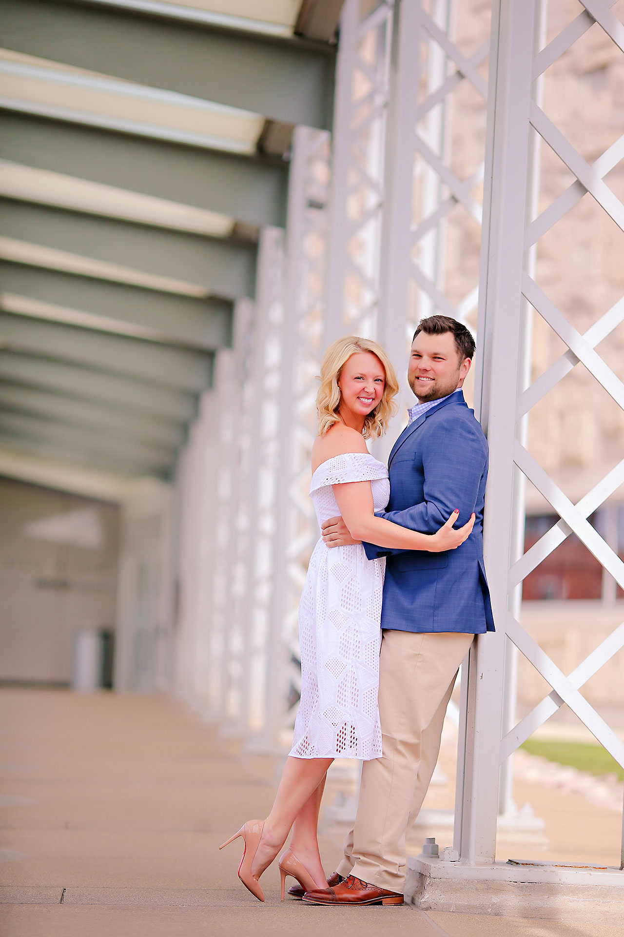 Chelsea Tom Downtown Indianapolis Engagement Session 089
