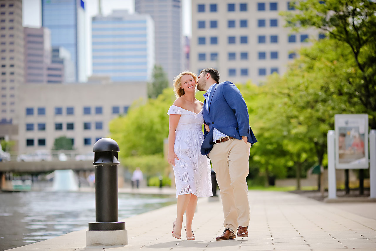Chelsea Tom Downtown Indianapolis Engagement Session 086