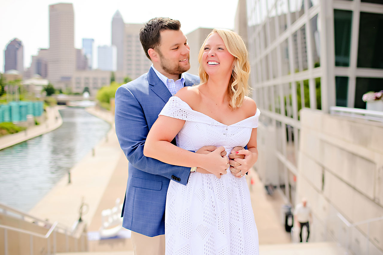Chelsea Tom Downtown Indianapolis Engagement Session 069