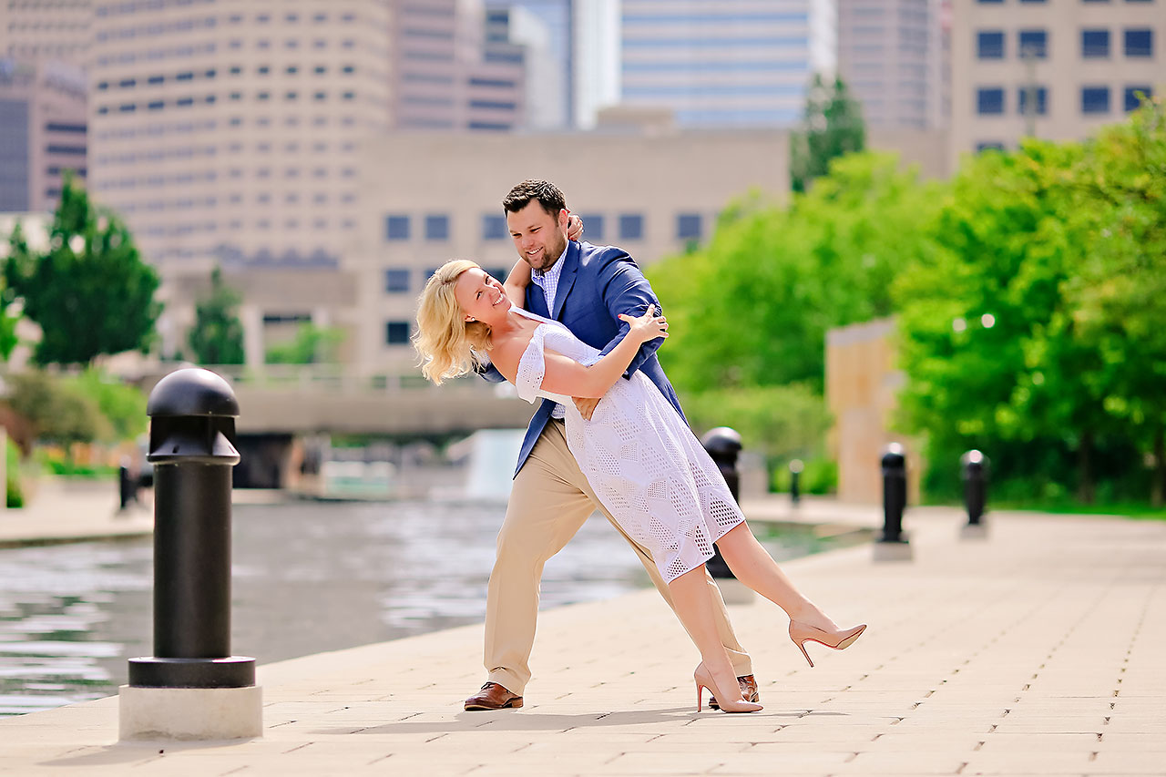 Chelsea Tom Downtown Indianapolis Engagement Session 070