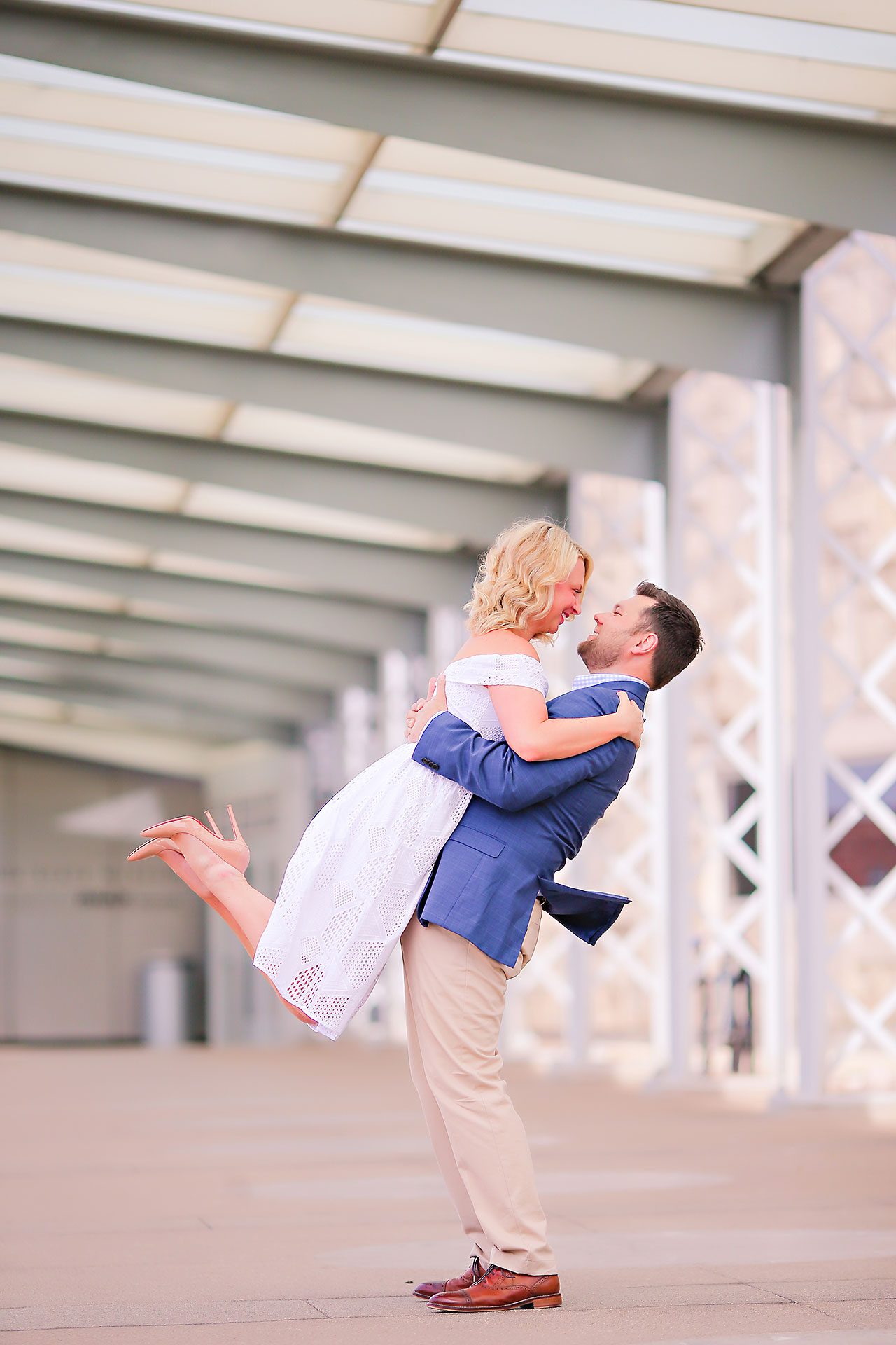 Chelsea Tom Downtown Indianapolis Engagement Session 061