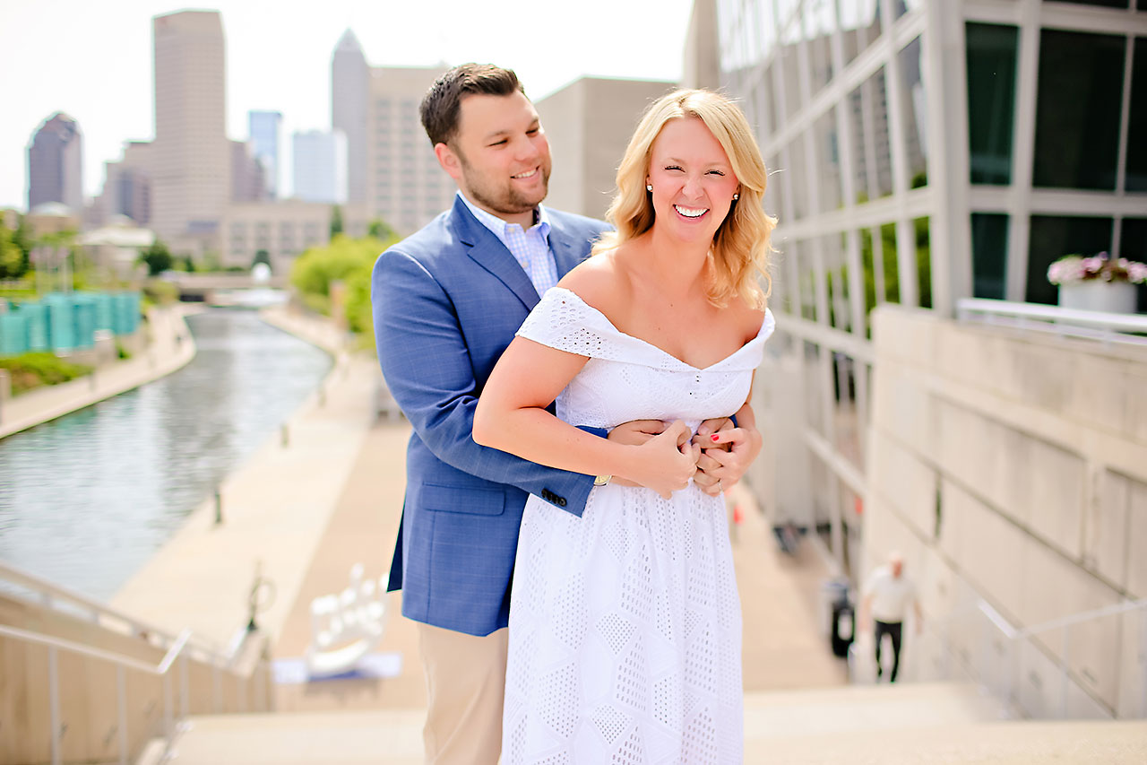 Chelsea Tom Downtown Indianapolis Engagement Session 036