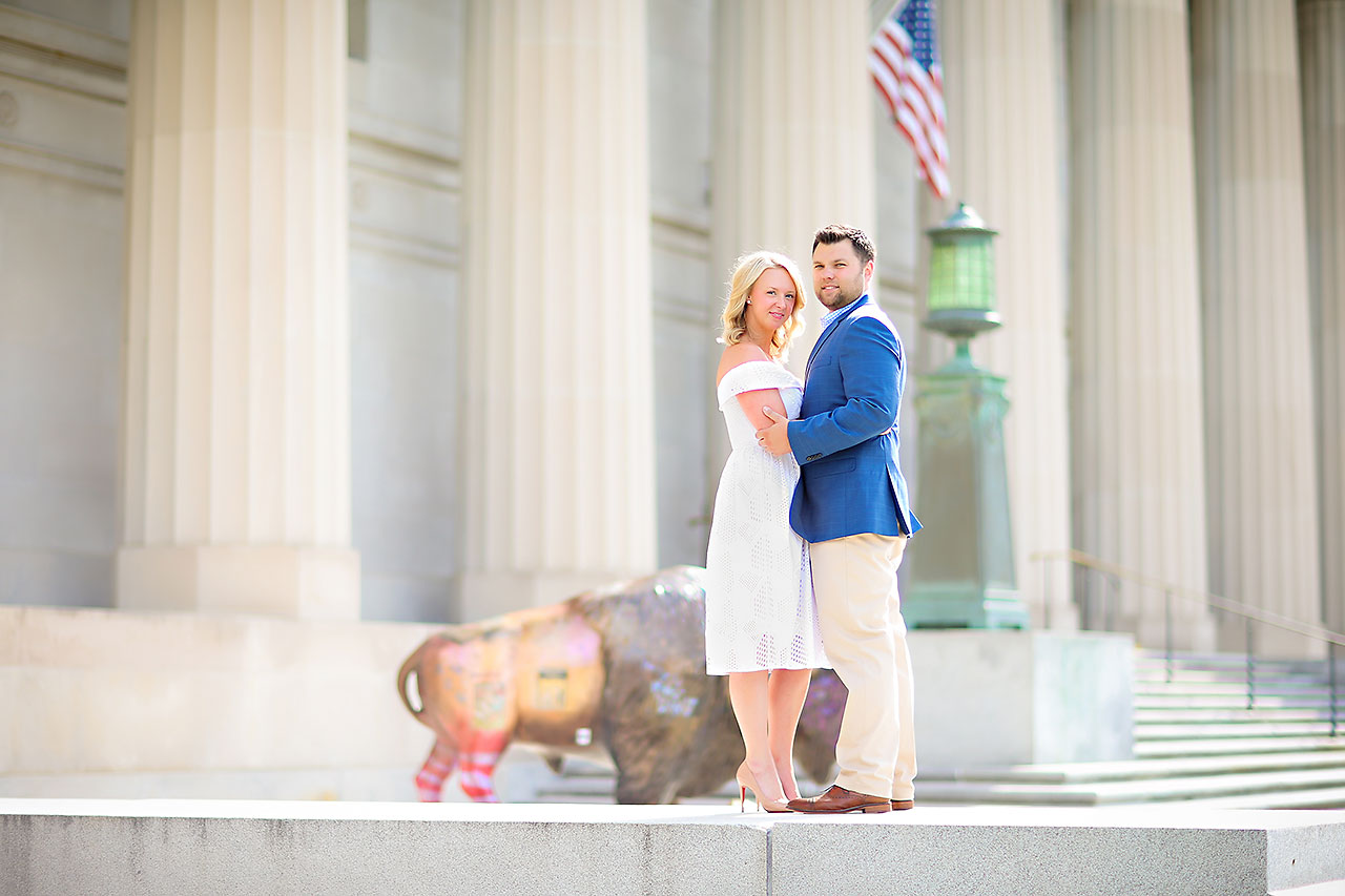 Chelsea Tom Downtown Indianapolis Engagement Session 017