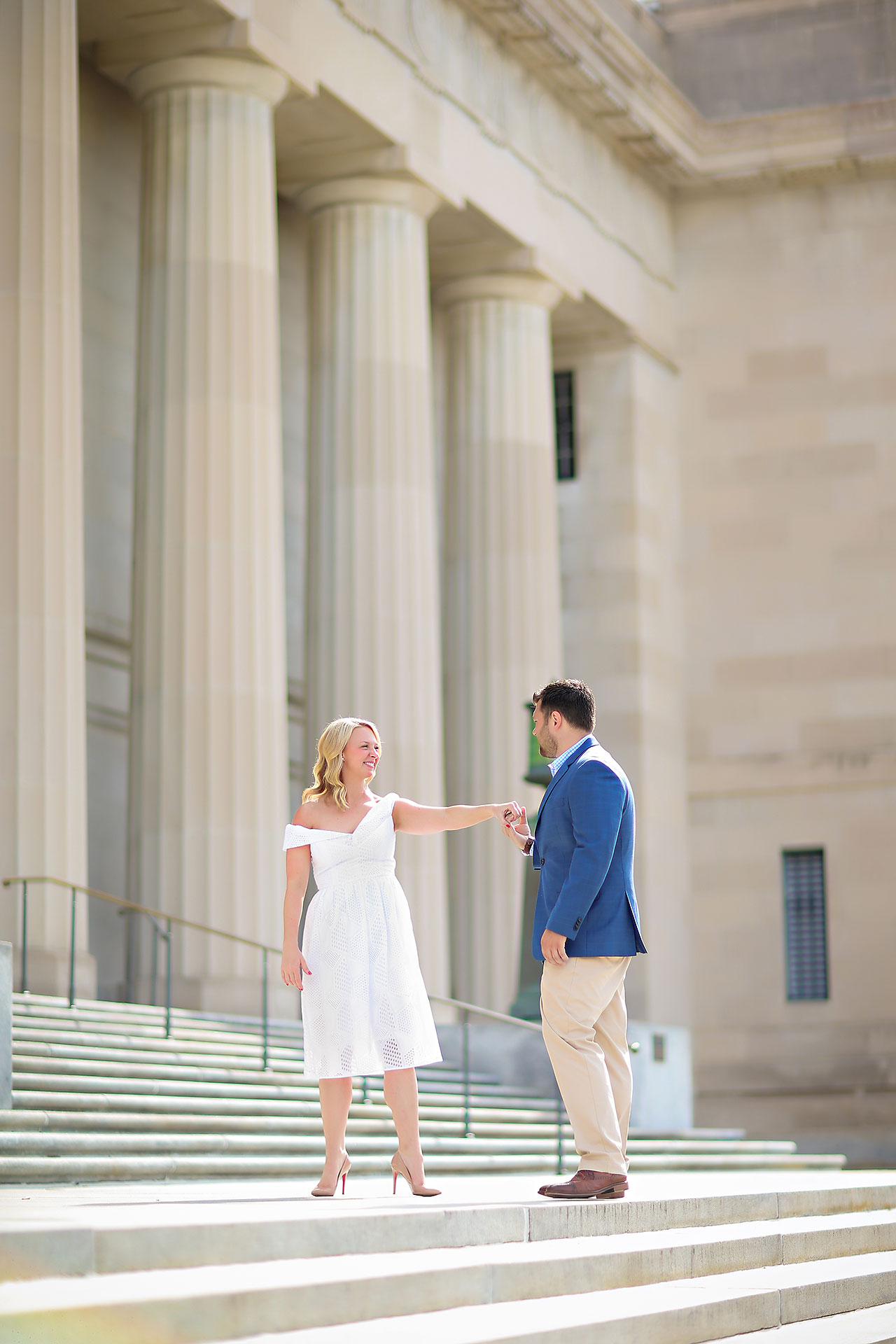 Chelsea Tom Downtown Indianapolis Engagement Session 007