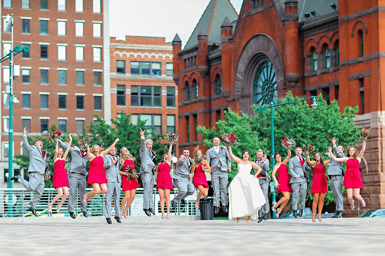Diana Nick Crowne Plaza Indianapolis Wedding 200