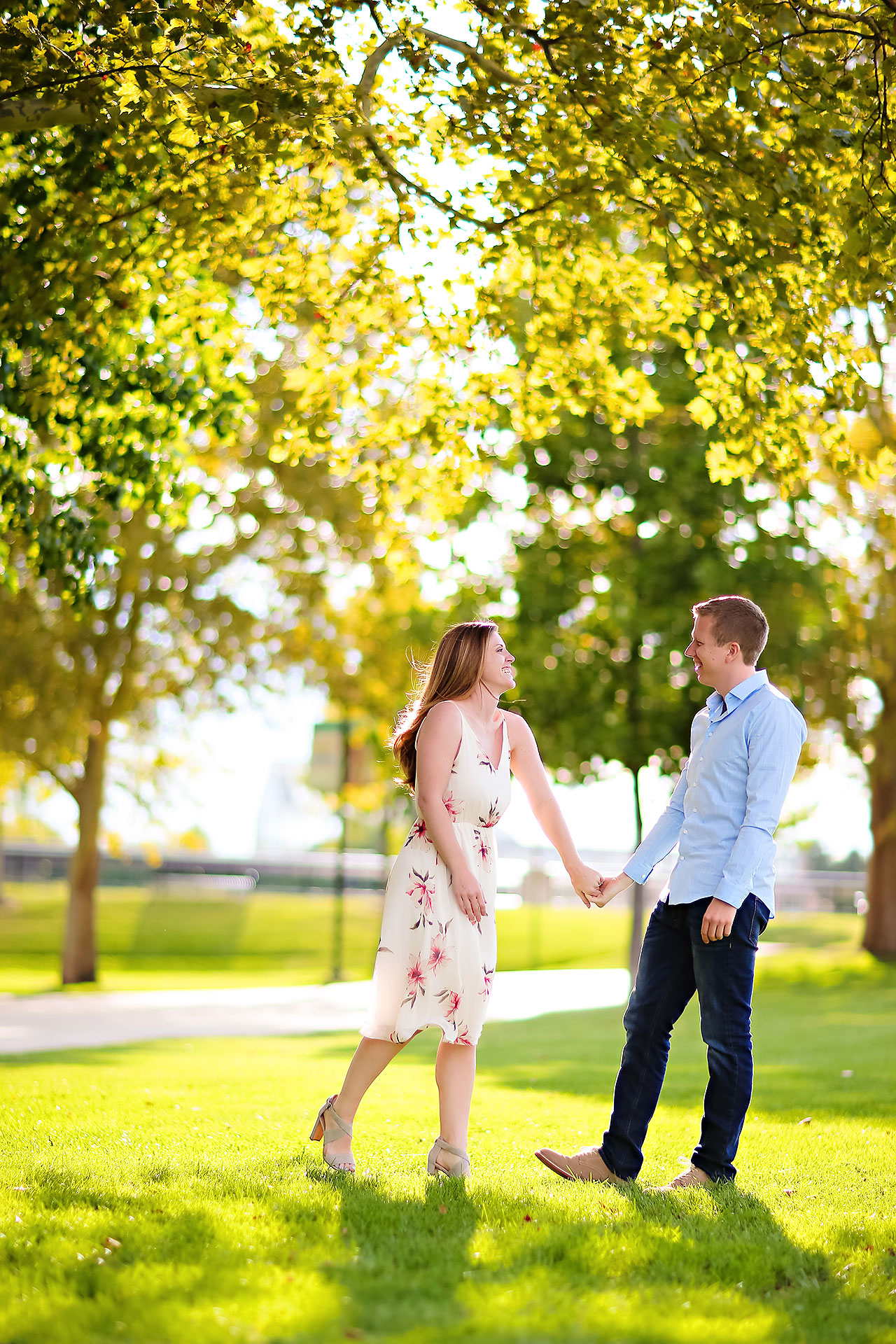 Chelsea Jeff Downtown Indy Engagement Session 186