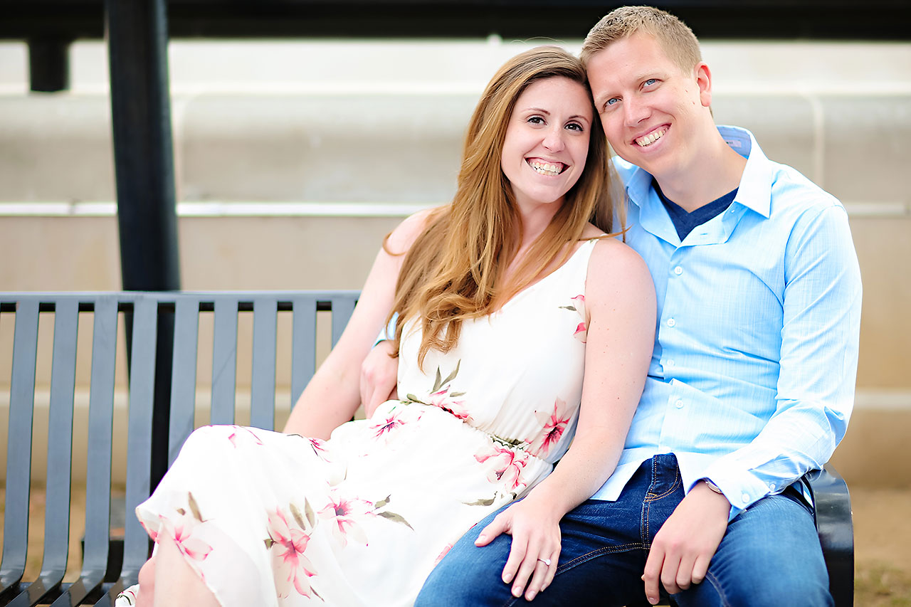 Chelsea Jeff Downtown Indy Engagement Session 175
