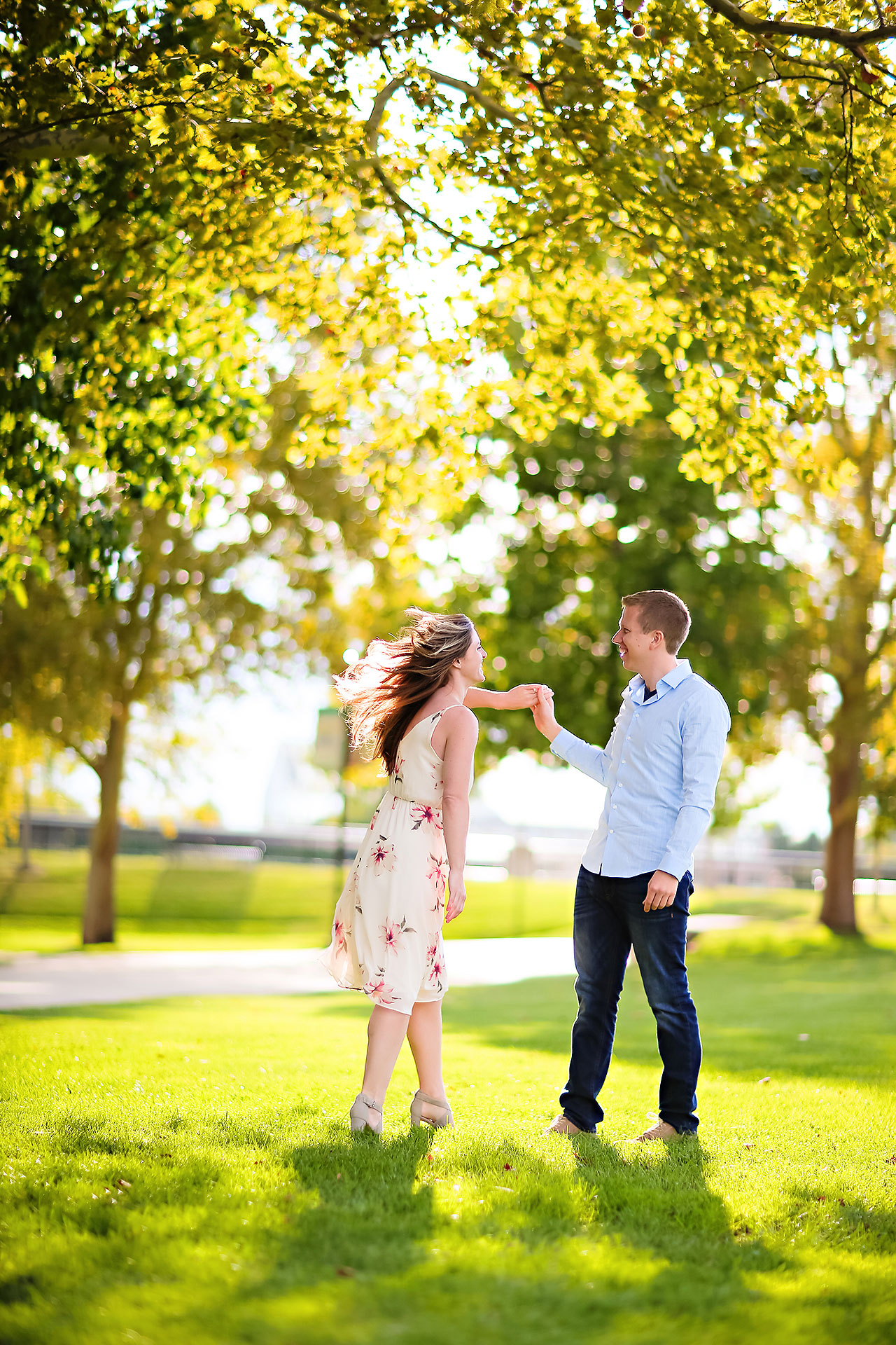 Chelsea Jeff Downtown Indy Engagement Session 168