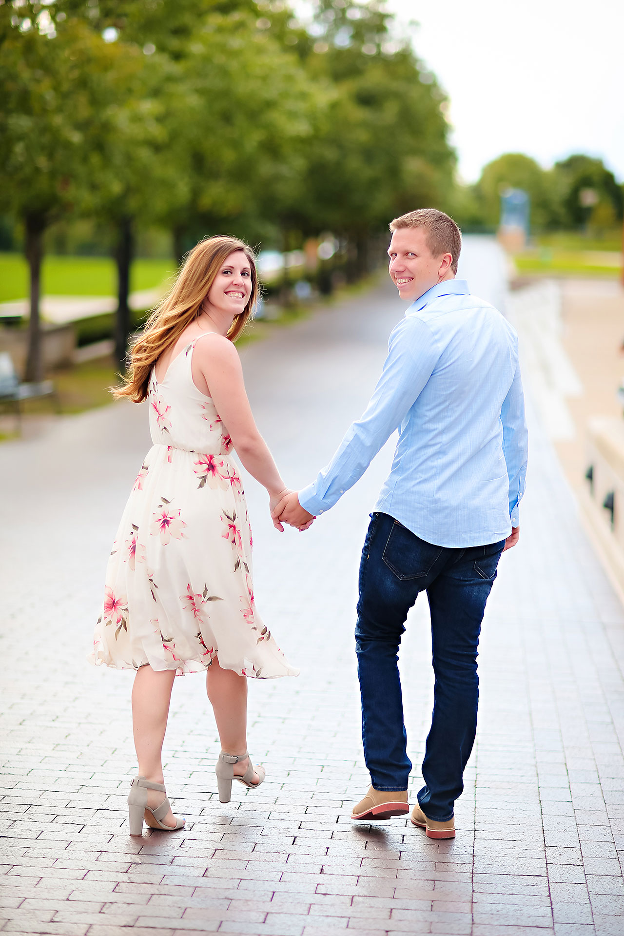 Chelsea Jeff Downtown Indy Engagement Session 164