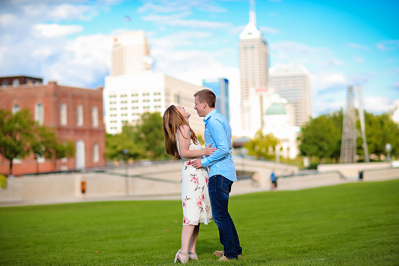 Chelsea Jeff Downtown Indy Engagement Session 158