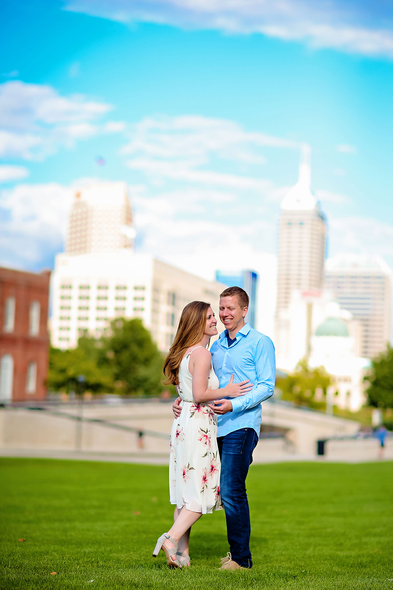 Chelsea Jeff Downtown Indy Engagement Session 149