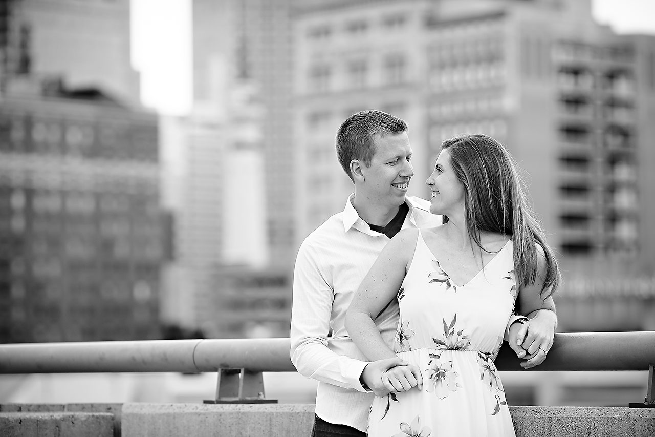 Chelsea Jeff Downtown Indy Engagement Session 146
