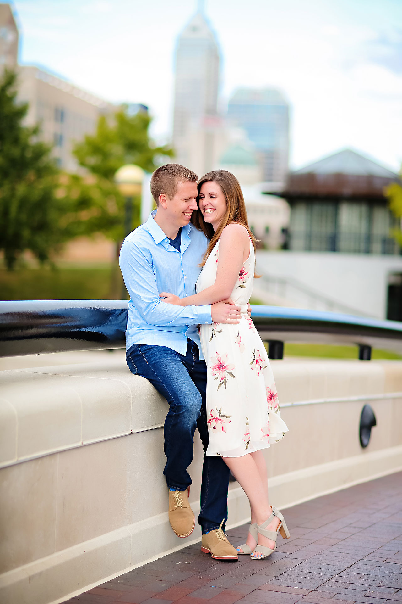 Chelsea Jeff Downtown Indy Engagement Session 147