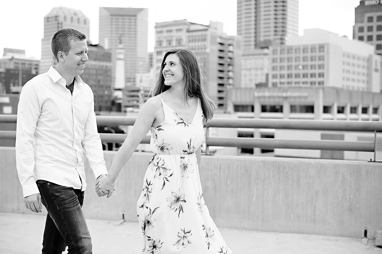 Chelsea Jeff Downtown Indy Engagement Session 144
