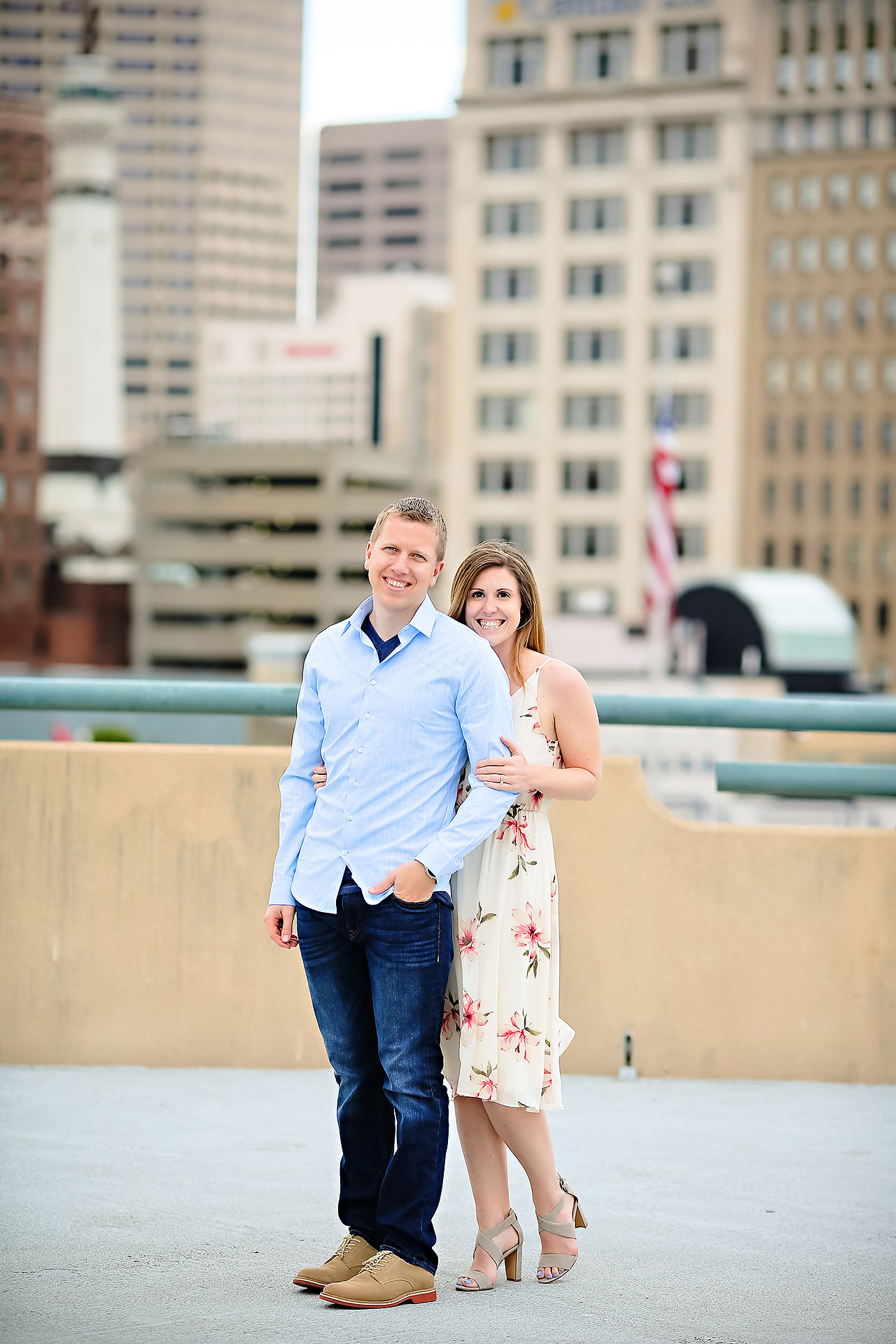 Chelsea Jeff Downtown Indy Engagement Session 141