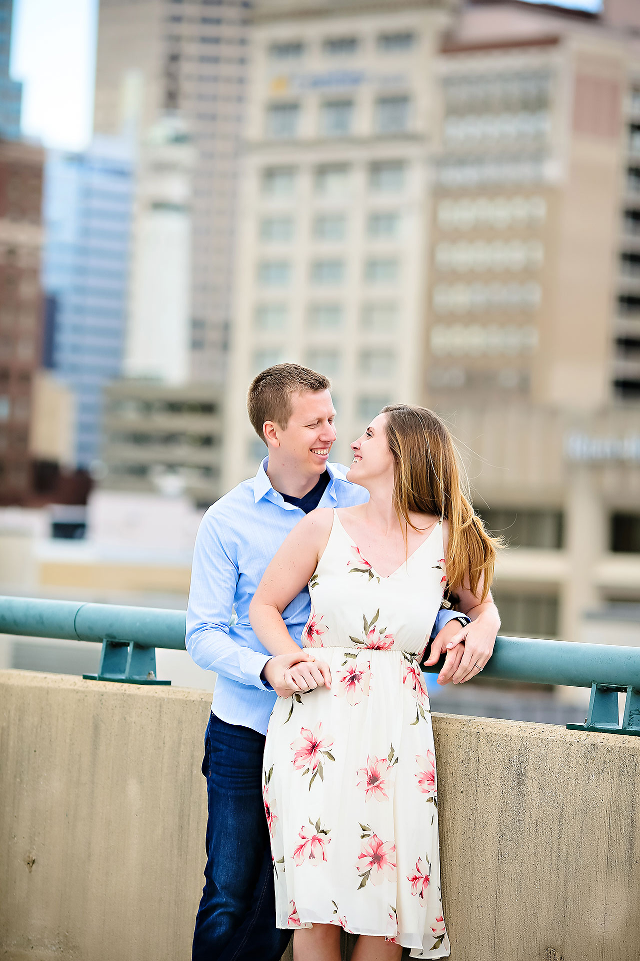 Chelsea Jeff Downtown Indy Engagement Session 136