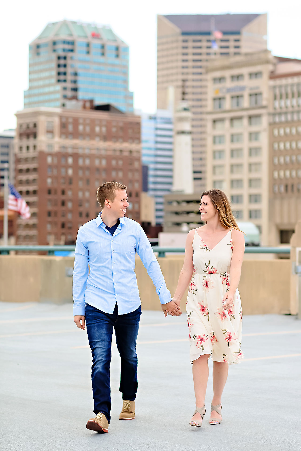 Chelsea Jeff Downtown Indy Engagement Session 137