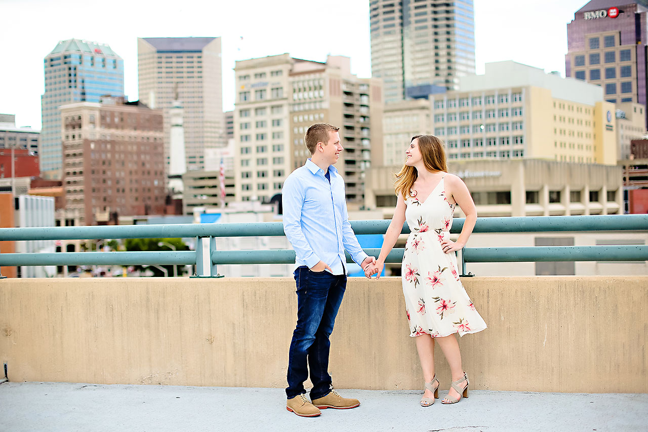 Chelsea Jeff Downtown Indy Engagement Session 131