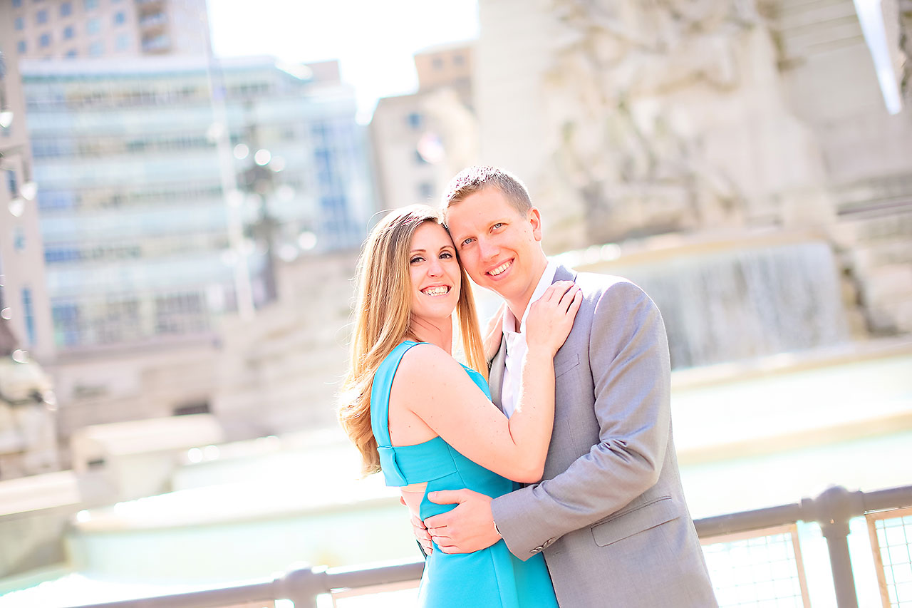 Chelsea Jeff Downtown Indy Engagement Session 124