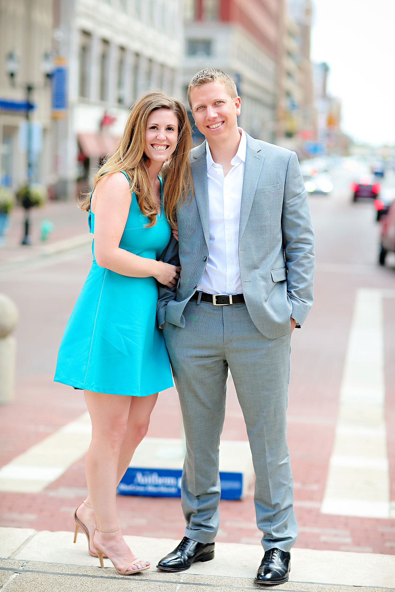 Chelsea Jeff Downtown Indy Engagement Session 125