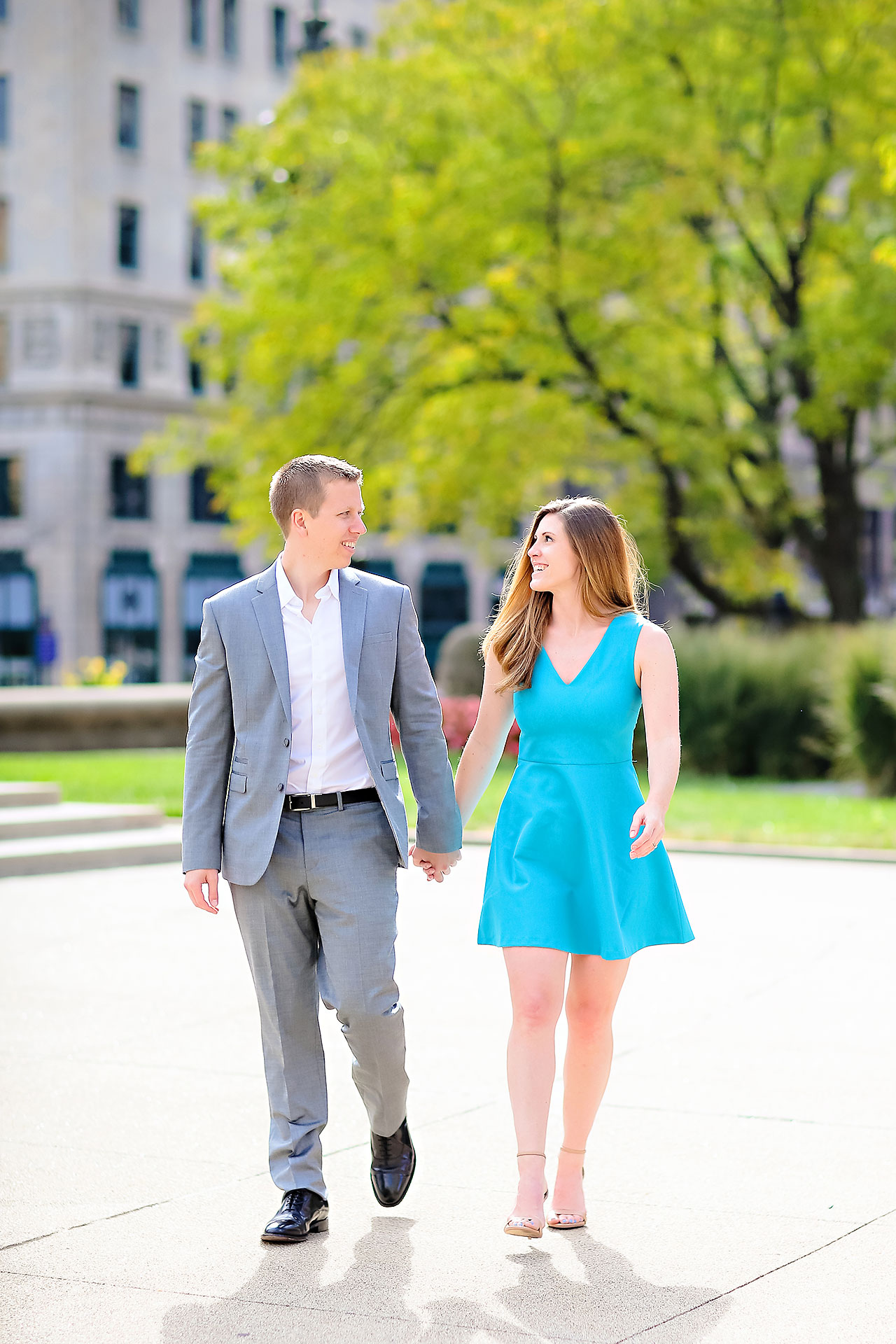 Chelsea Jeff Downtown Indy Engagement Session 113