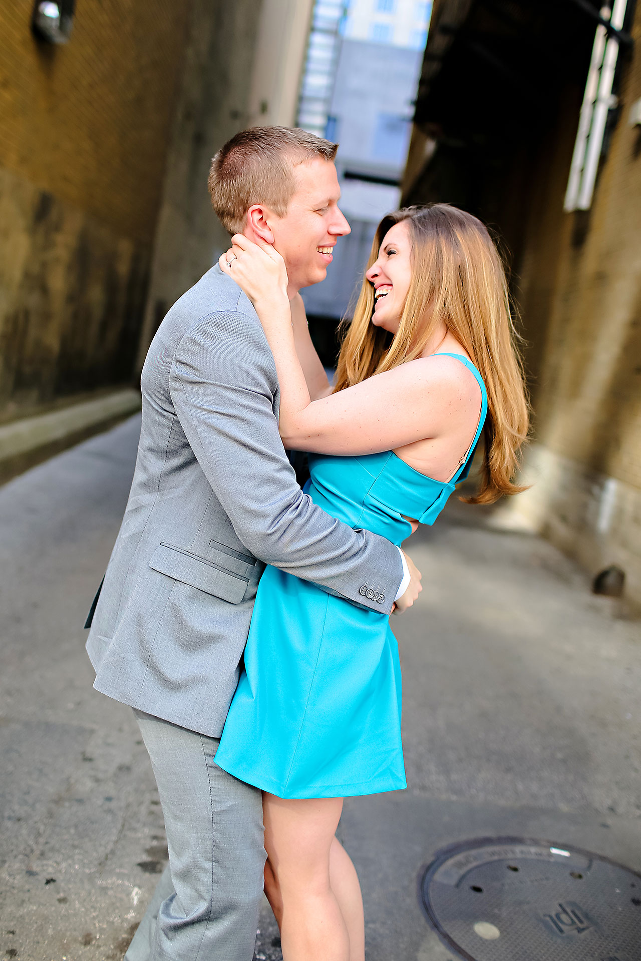 Chelsea Jeff Downtown Indy Engagement Session 107