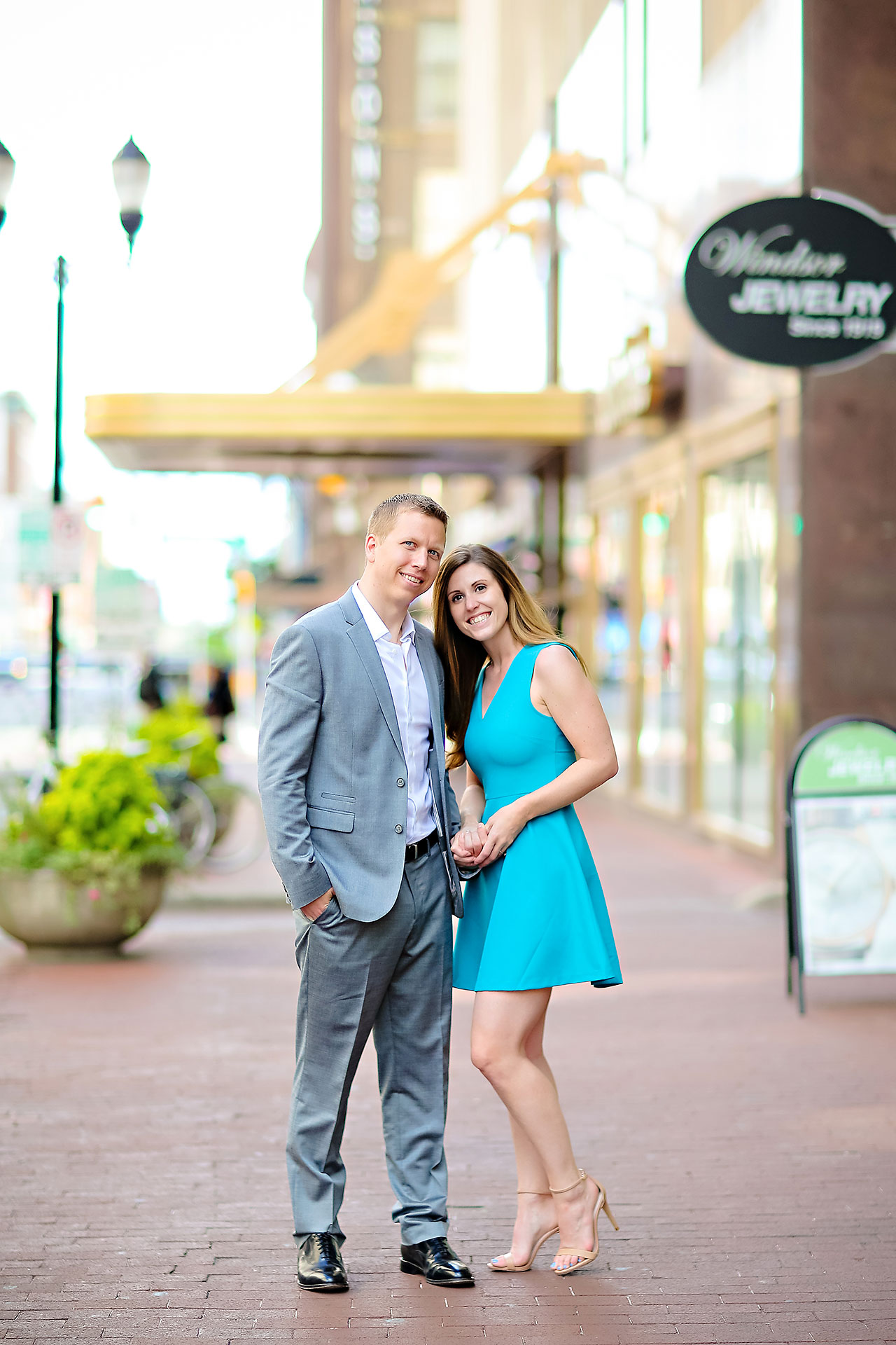 Chelsea Jeff Downtown Indy Engagement Session 104