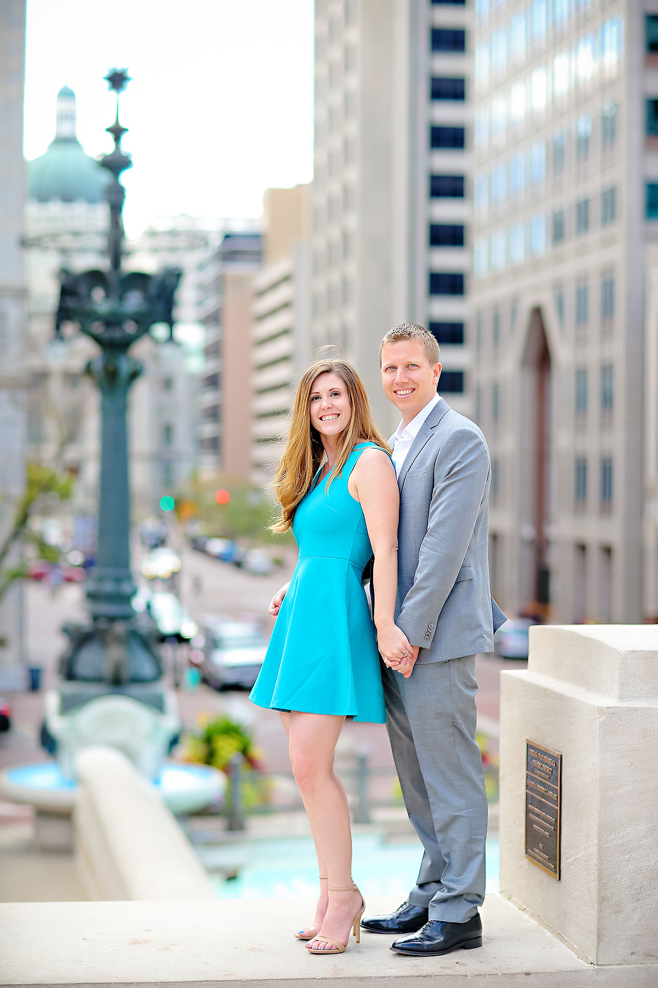 Chelsea Jeff Downtown Indy Engagement Session 106