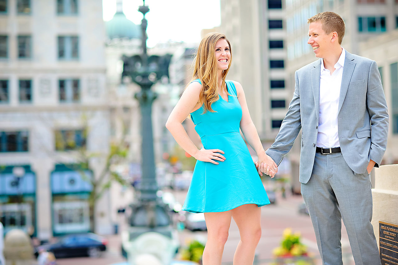 Chelsea Jeff Downtown Indy Engagement Session 102