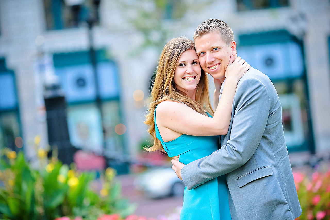 Chelsea Jeff Downtown Indy Engagement Session 100