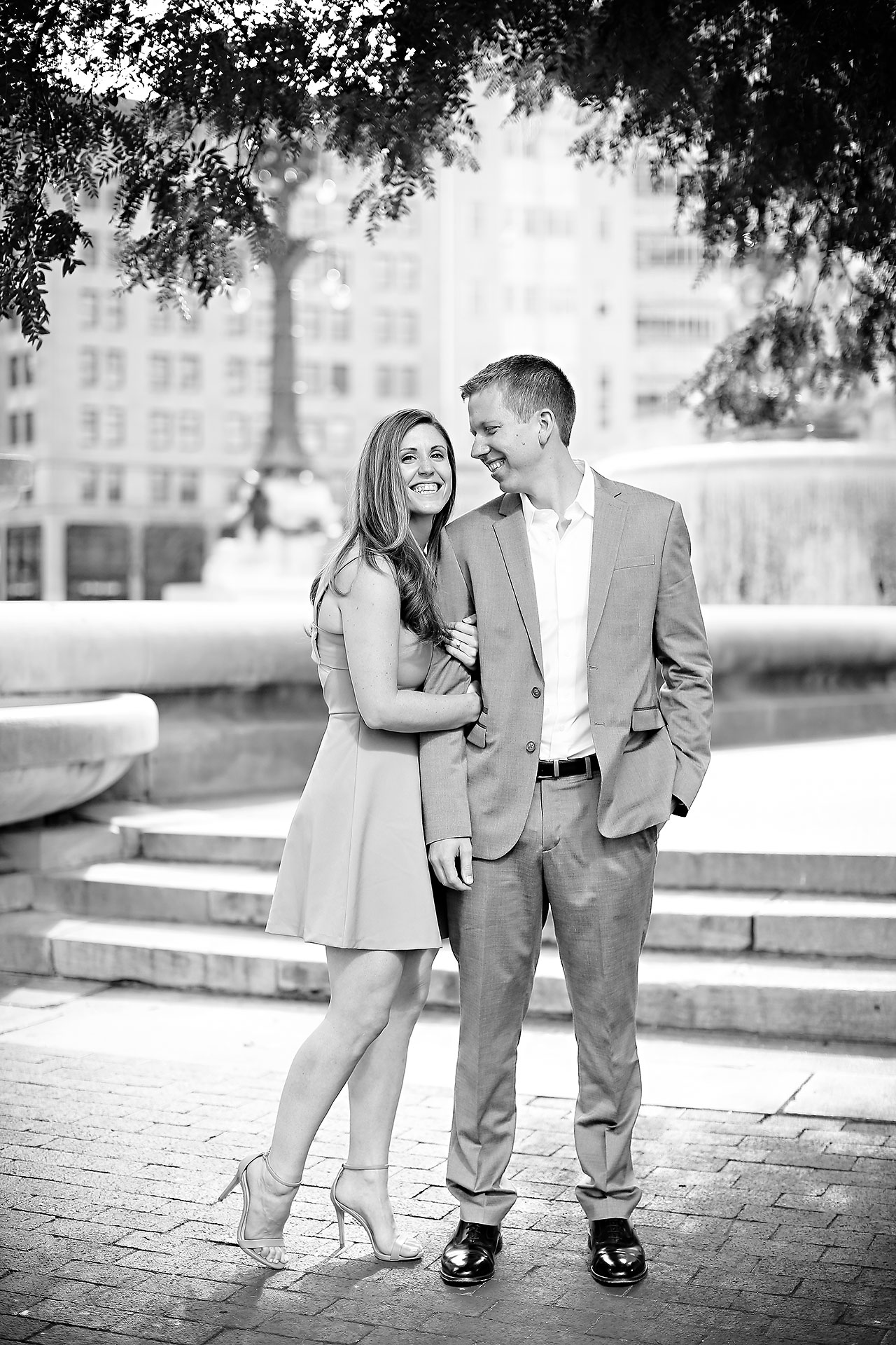 Chelsea Jeff Downtown Indy Engagement Session 095